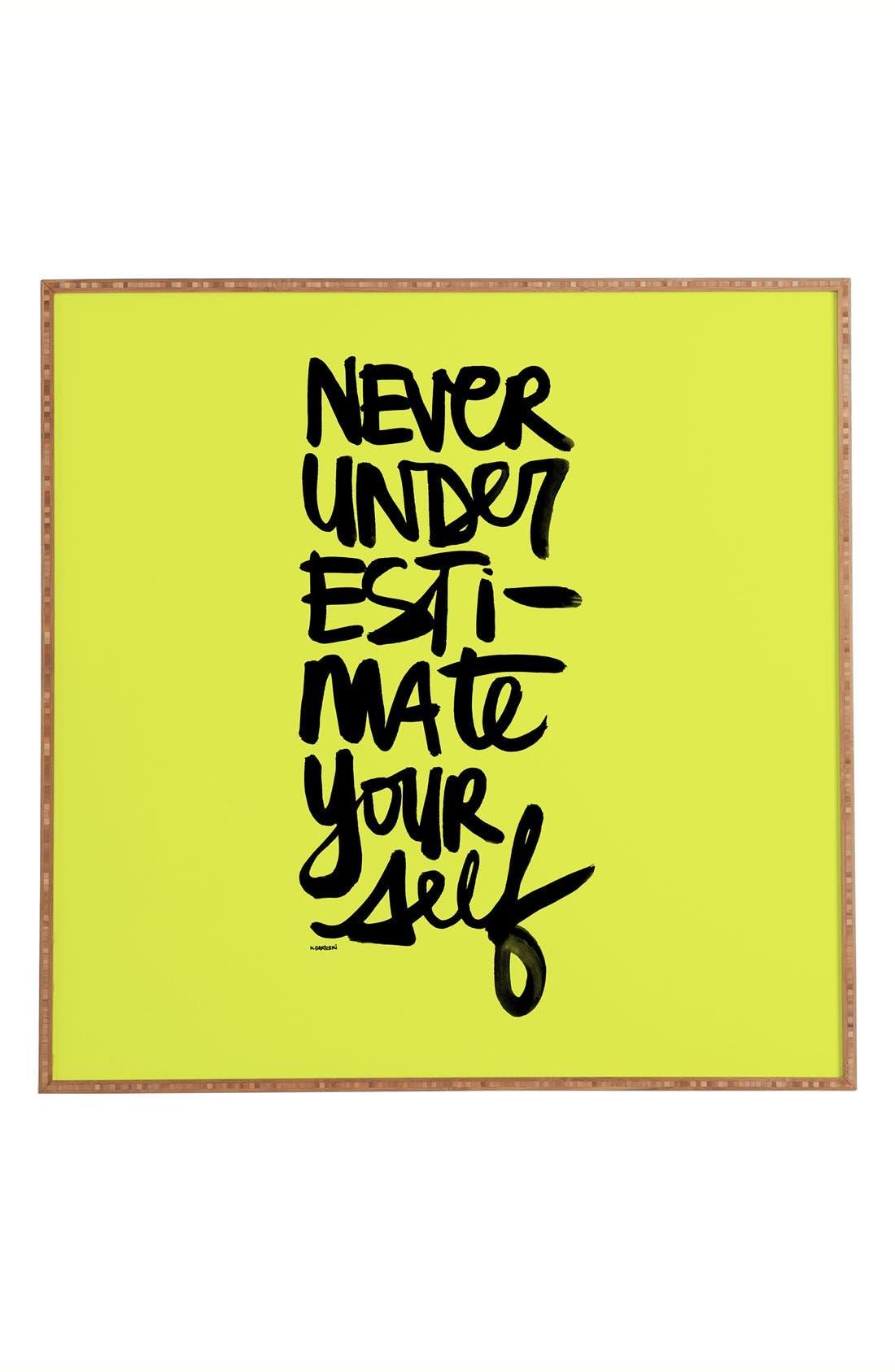 Alternate Image 1 Selected - DENY Designs 'Kal Barteski - Never Underestimate Yourself' Wall Art