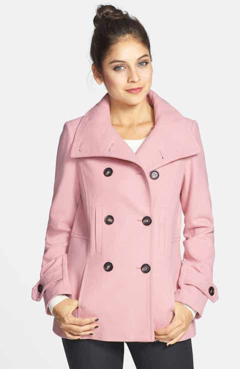 Women's Pink Wool & Wool-Blend Coats | Nordstrom