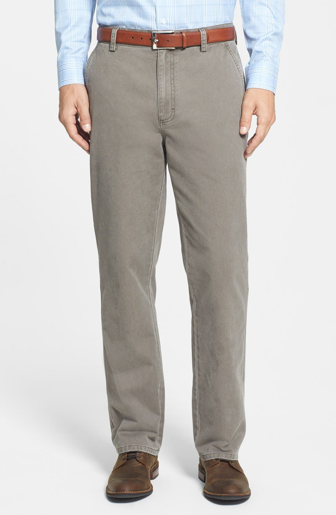 Alternate Image 1 Selected - Cutter & Buck Curtis Flat Front Five-Pocket Cotton Twill Pants