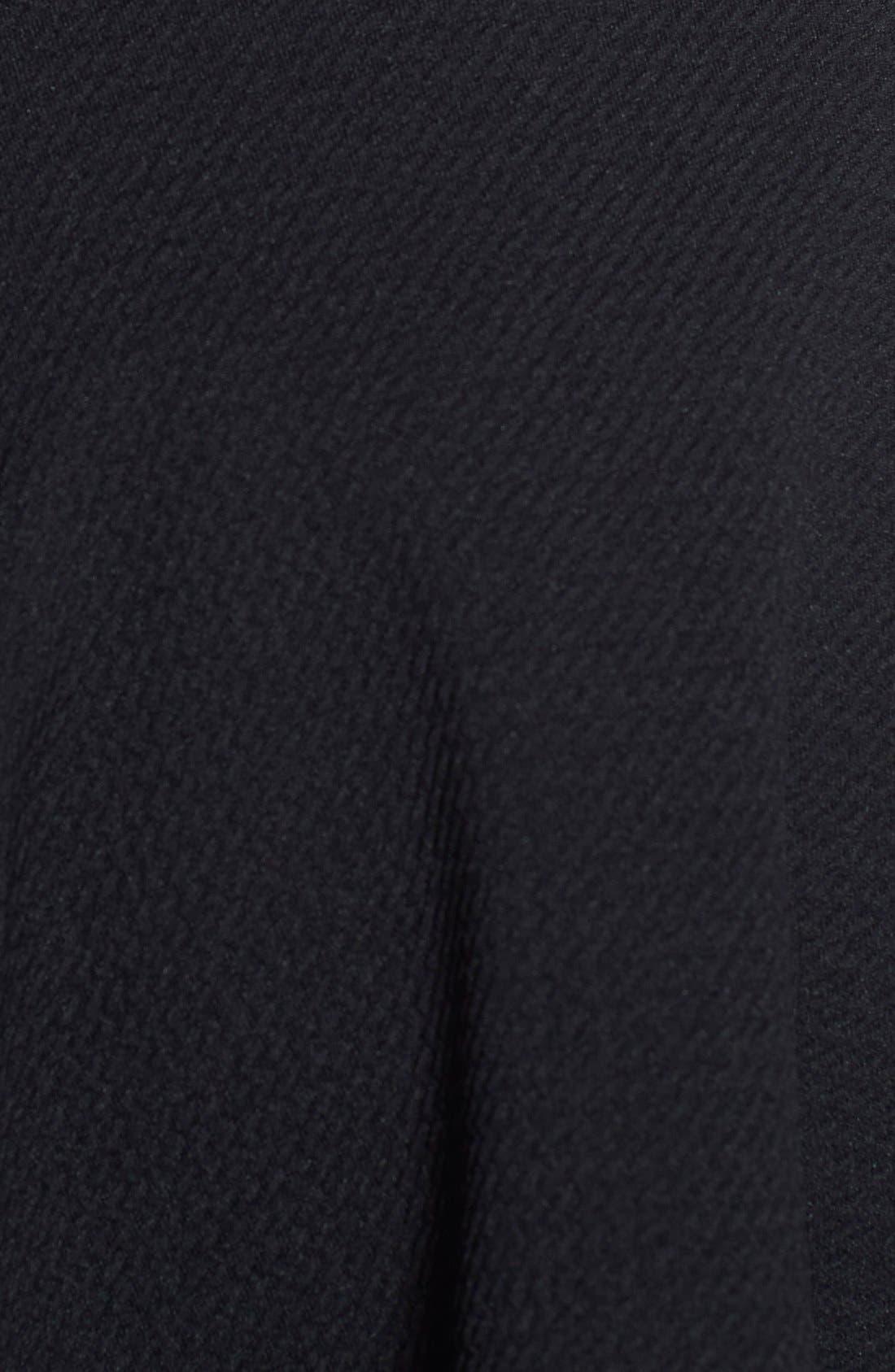 Textured Skater Skirt,                             Alternate thumbnail 3, color,                             Black