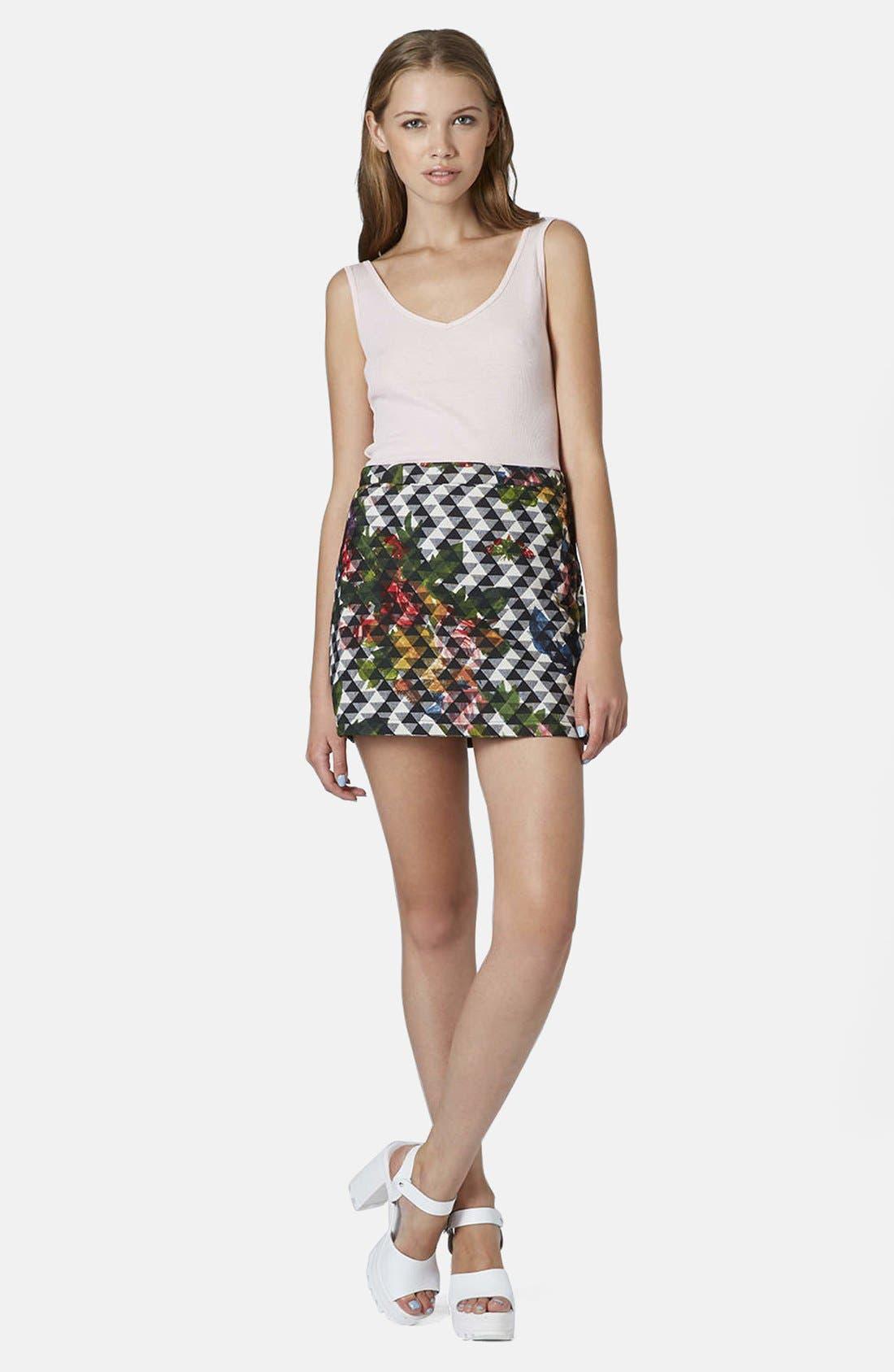 Alternate Image 4  - Topshop Floral Print Pelmet Skirt