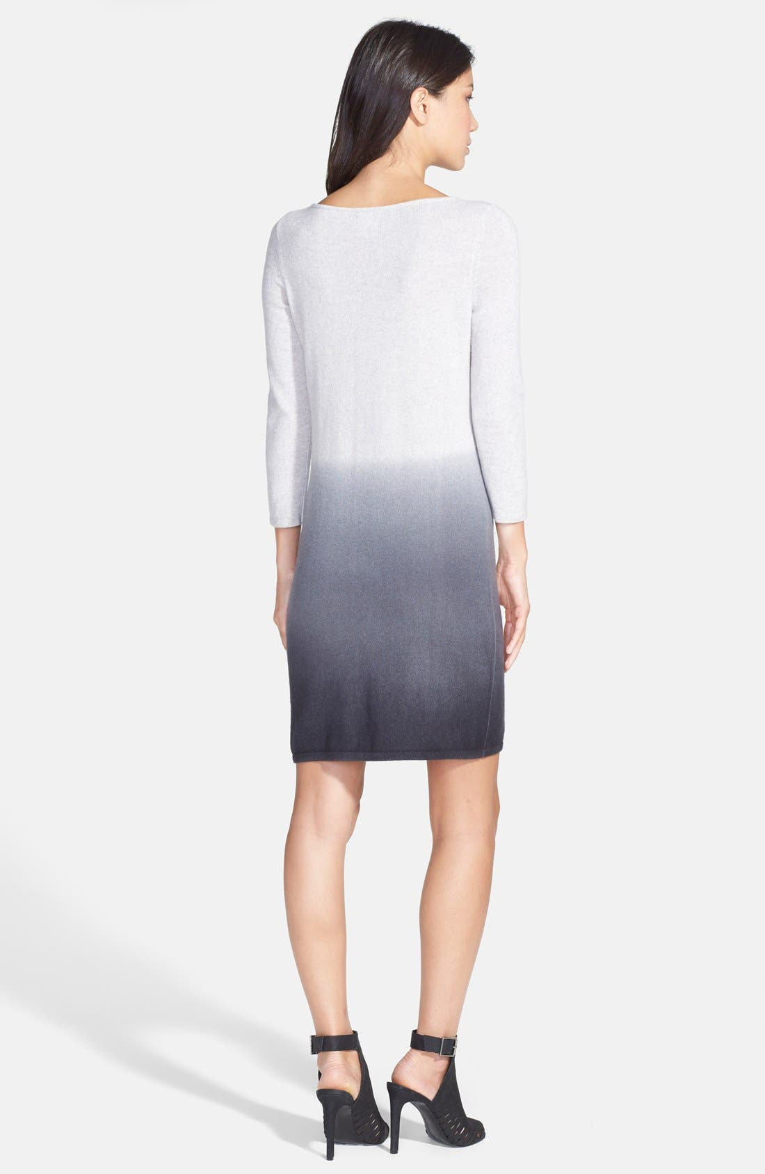 Alternate Image 2  - Only Mine Dip Dye Wool & Cashmere Sweater Dress (Regular & Petite)