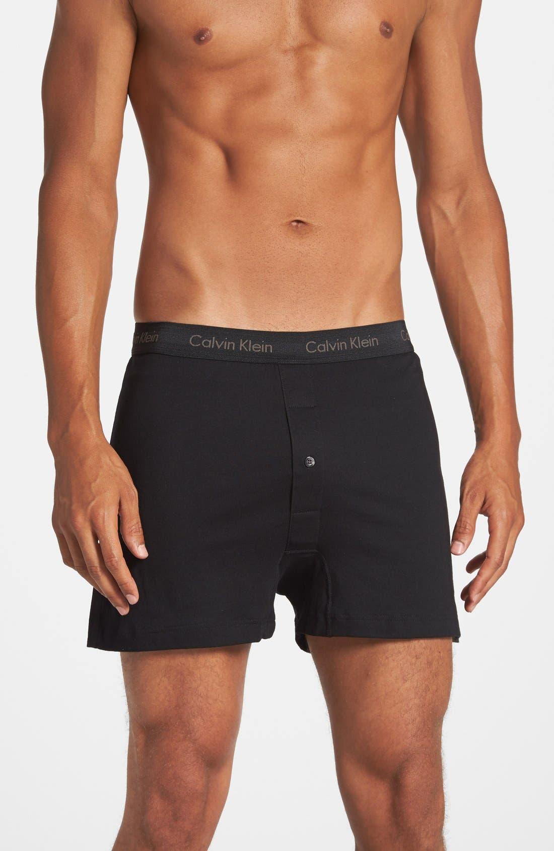 09ca25c8b7 Calvin Klein Men S Classic Knit Boxers 3-Pack Nu3040 In Heather Grey White