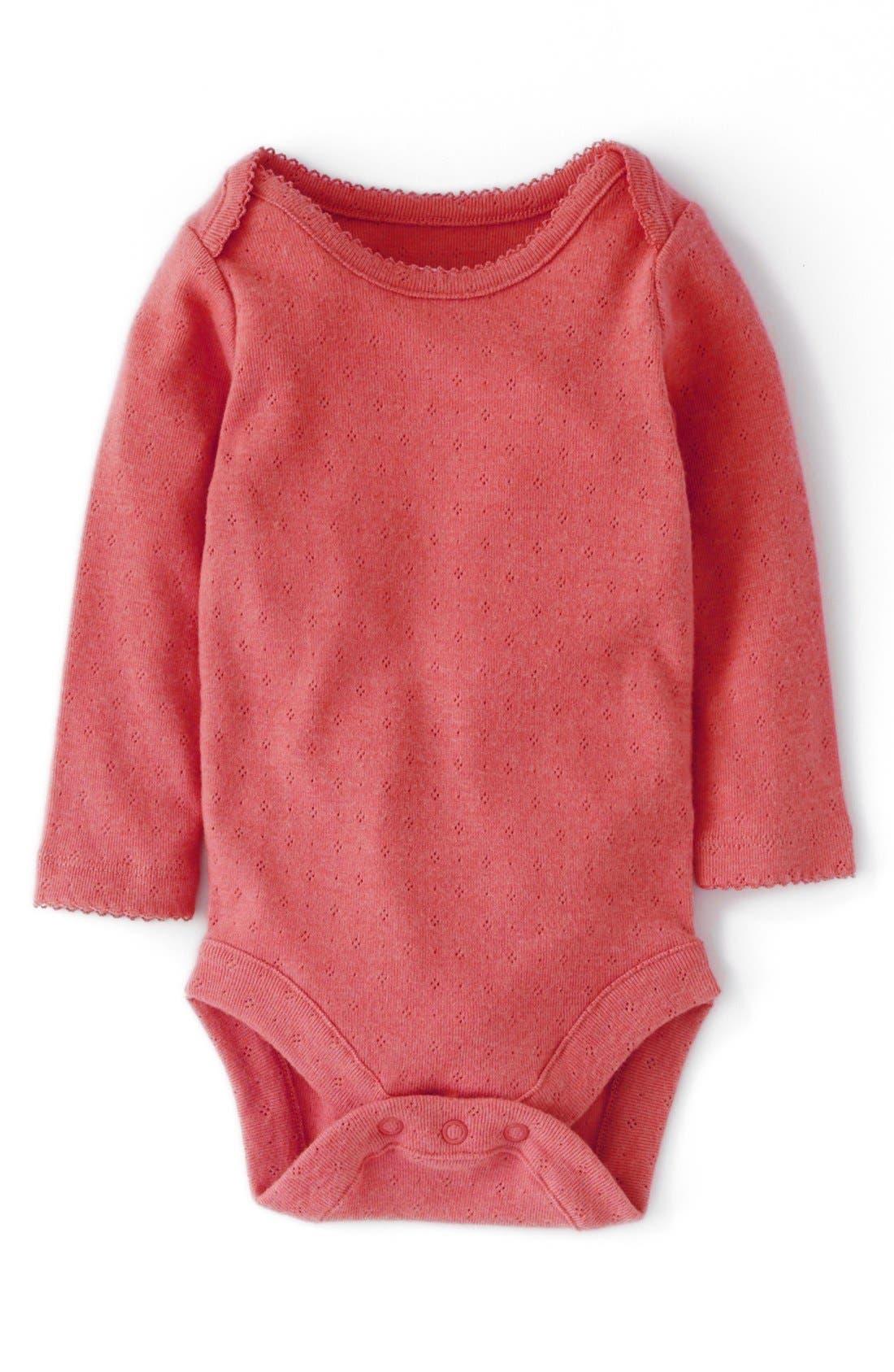Alternate Image 1 Selected - Mini Boden Pointelle Bodysuit (Baby Girls)