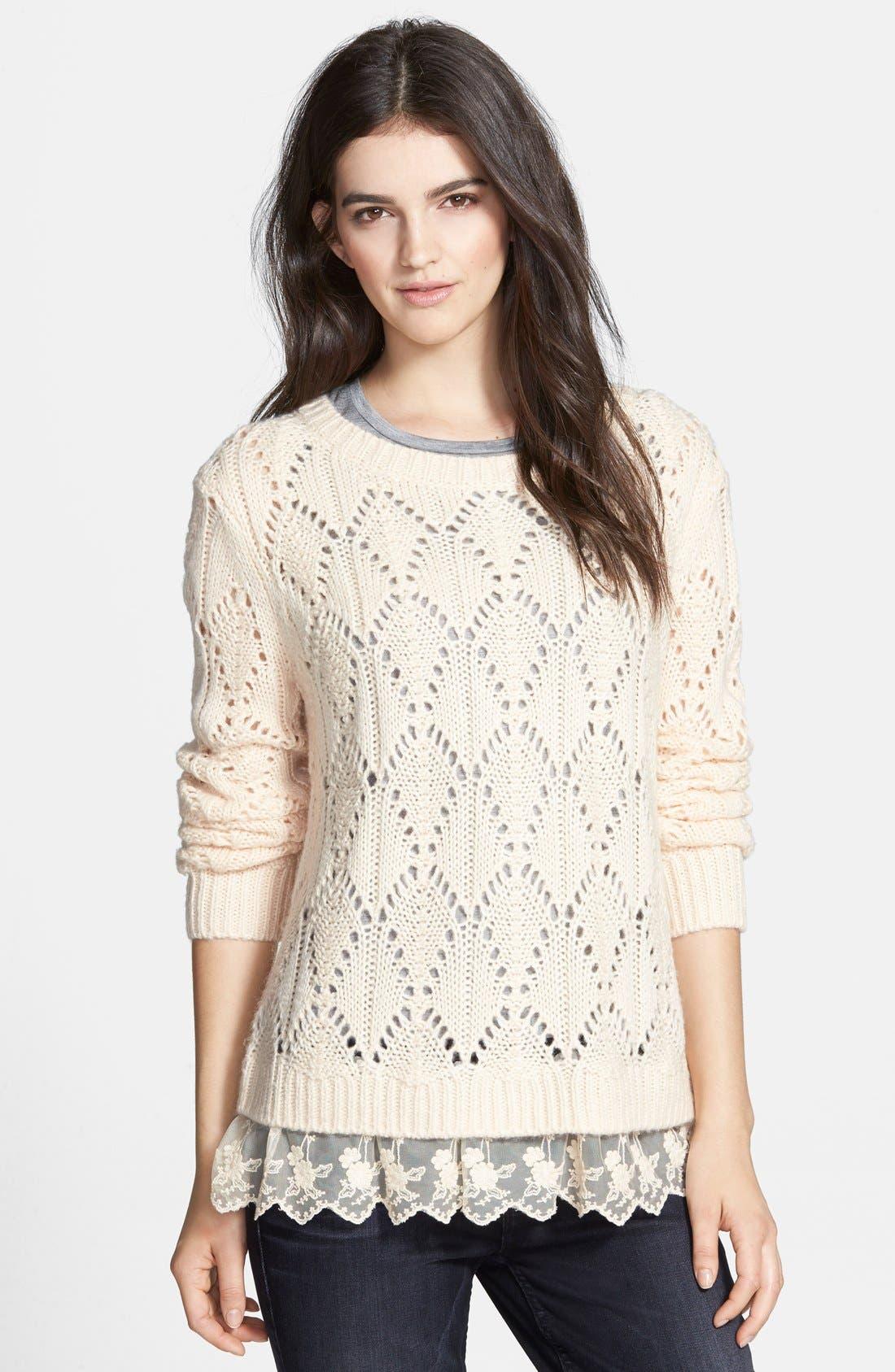 Alternate Image 1 Selected - Hinge Ruffle Hem Sweater