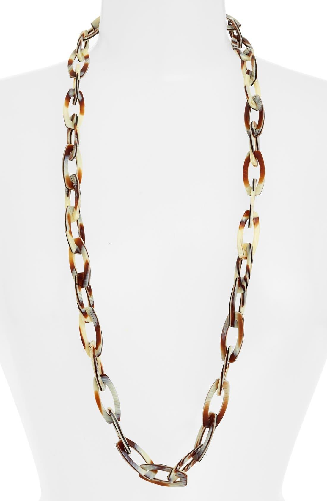 'Farrah' Link Necklace,                             Main thumbnail 1, color,                             Natural Horn