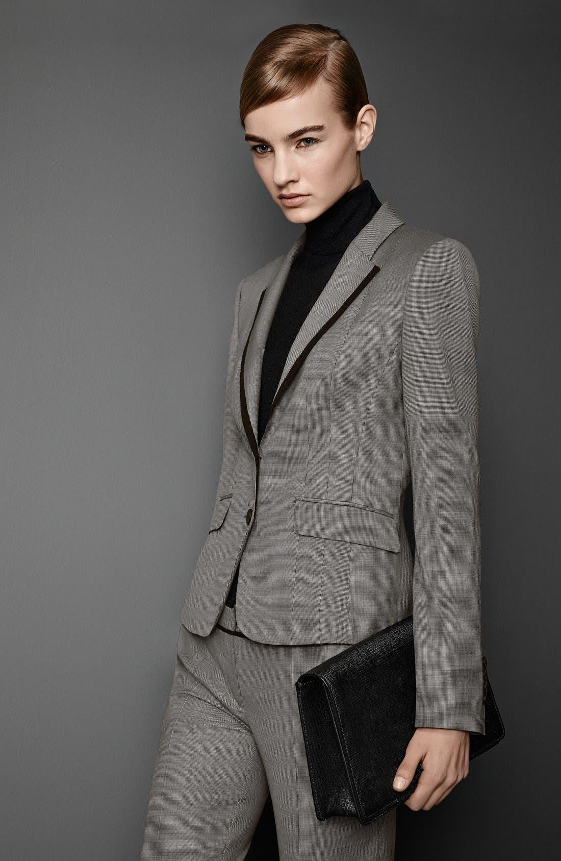 Alternate Image 4  - BOSS 'Tulia' Stretch Wool Trousers