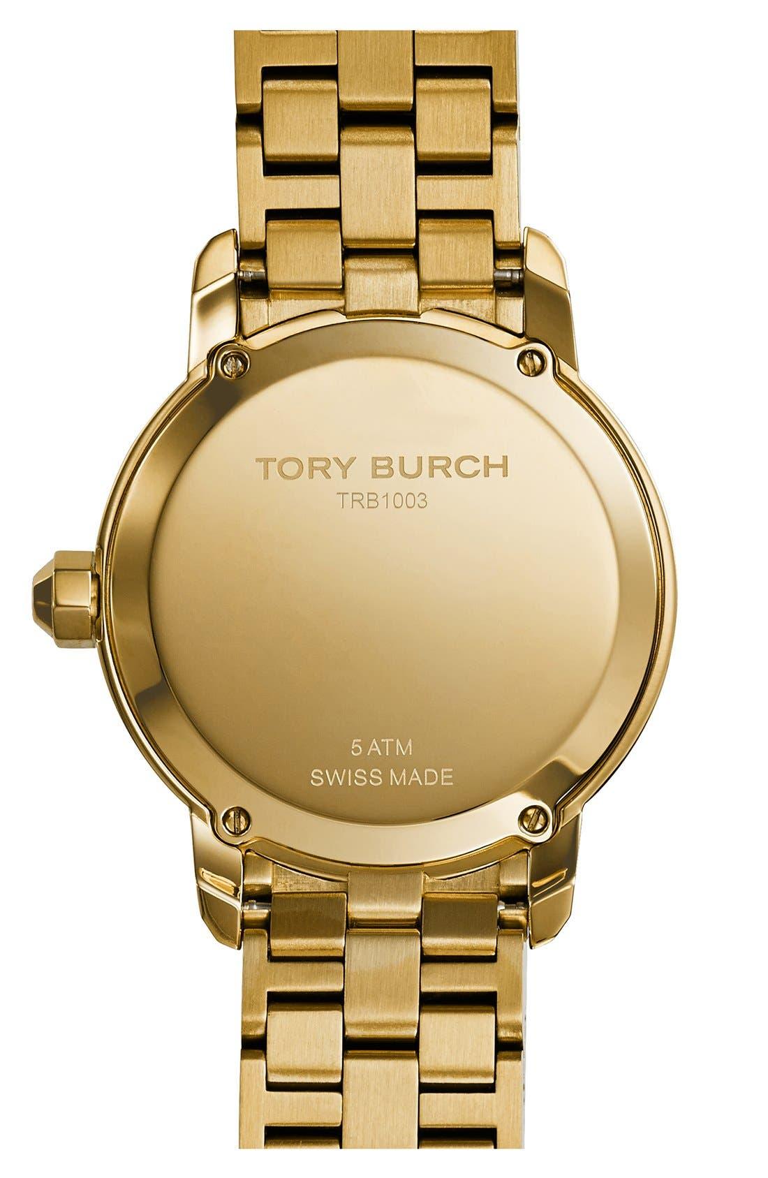 Alternate Image 2  - Tory Burch 'Tory' Large Round Bracelet Watch, 37mm