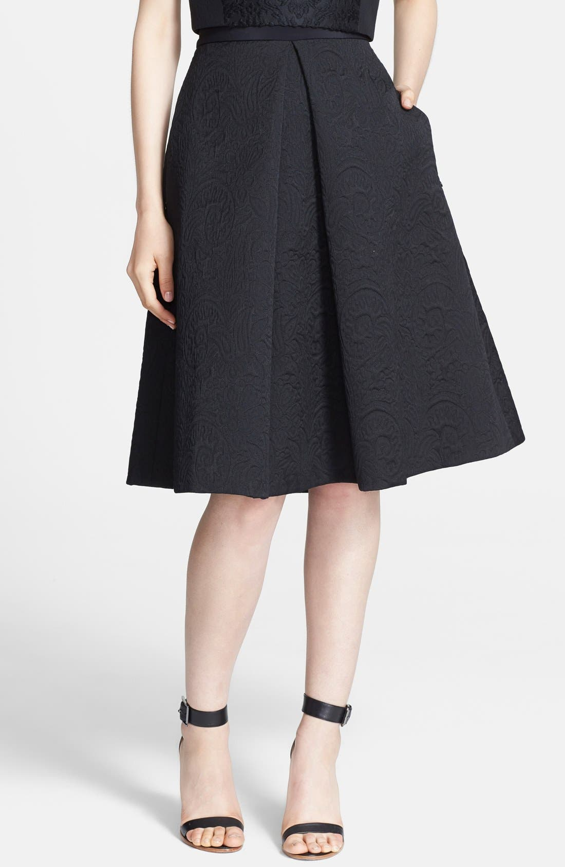 Alternate Image 1 Selected - Tibi 'Lia' Jacquard Midi Skirt