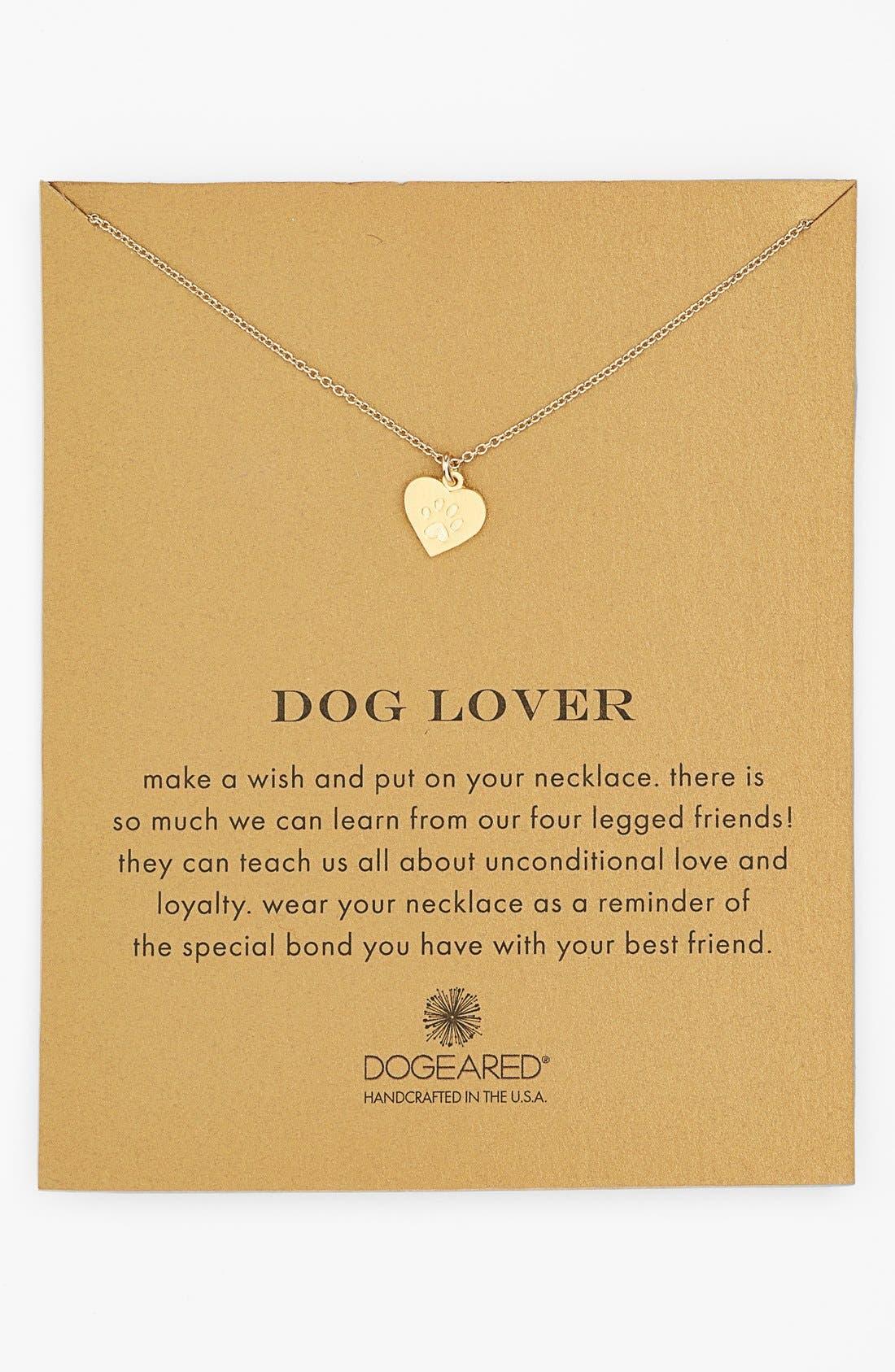 Alternate Image 1 Selected - Dogeared 'Reminder - Dog Lover' Boxed Pendant Necklace