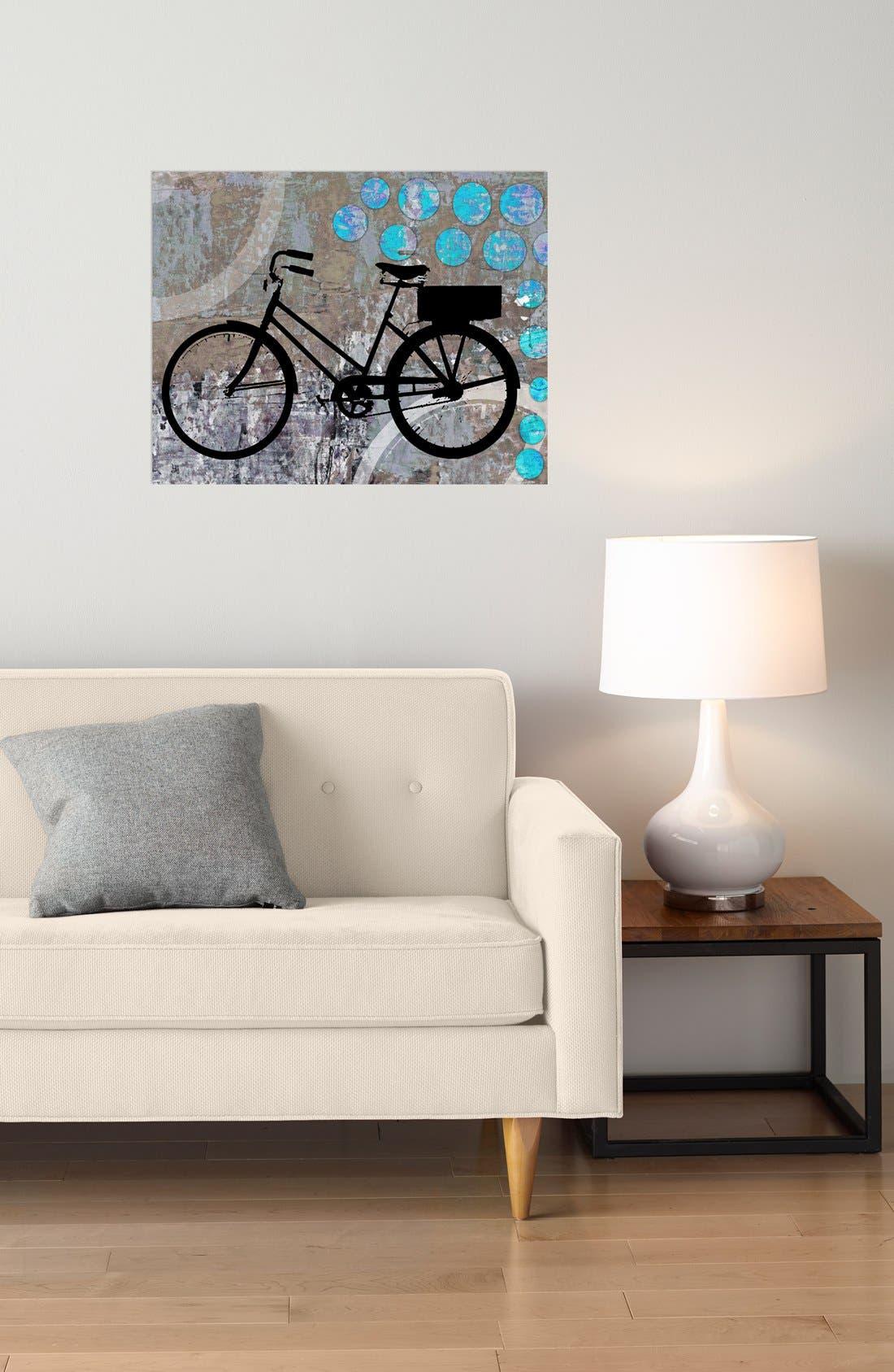 Alternate Image 2  - Green Leaf Art 'School Bicycle' Wall Art