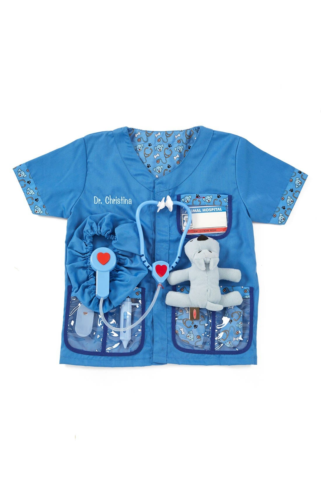 Alternate Image 1 Selected - Melissa & Doug 'Veterinarian' Personalized Costume Set (Toddler)