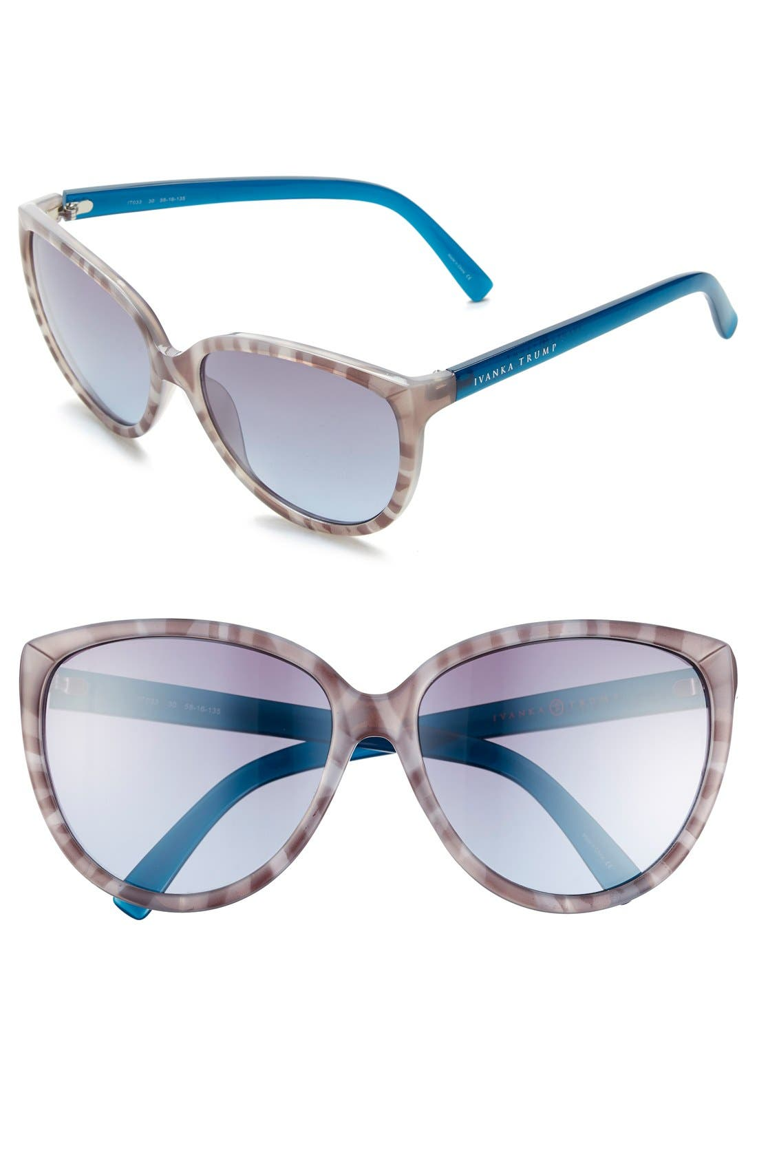 Alternate Image 1 Selected - Ivanka Trump 58mm Cat Eye Sunglasses