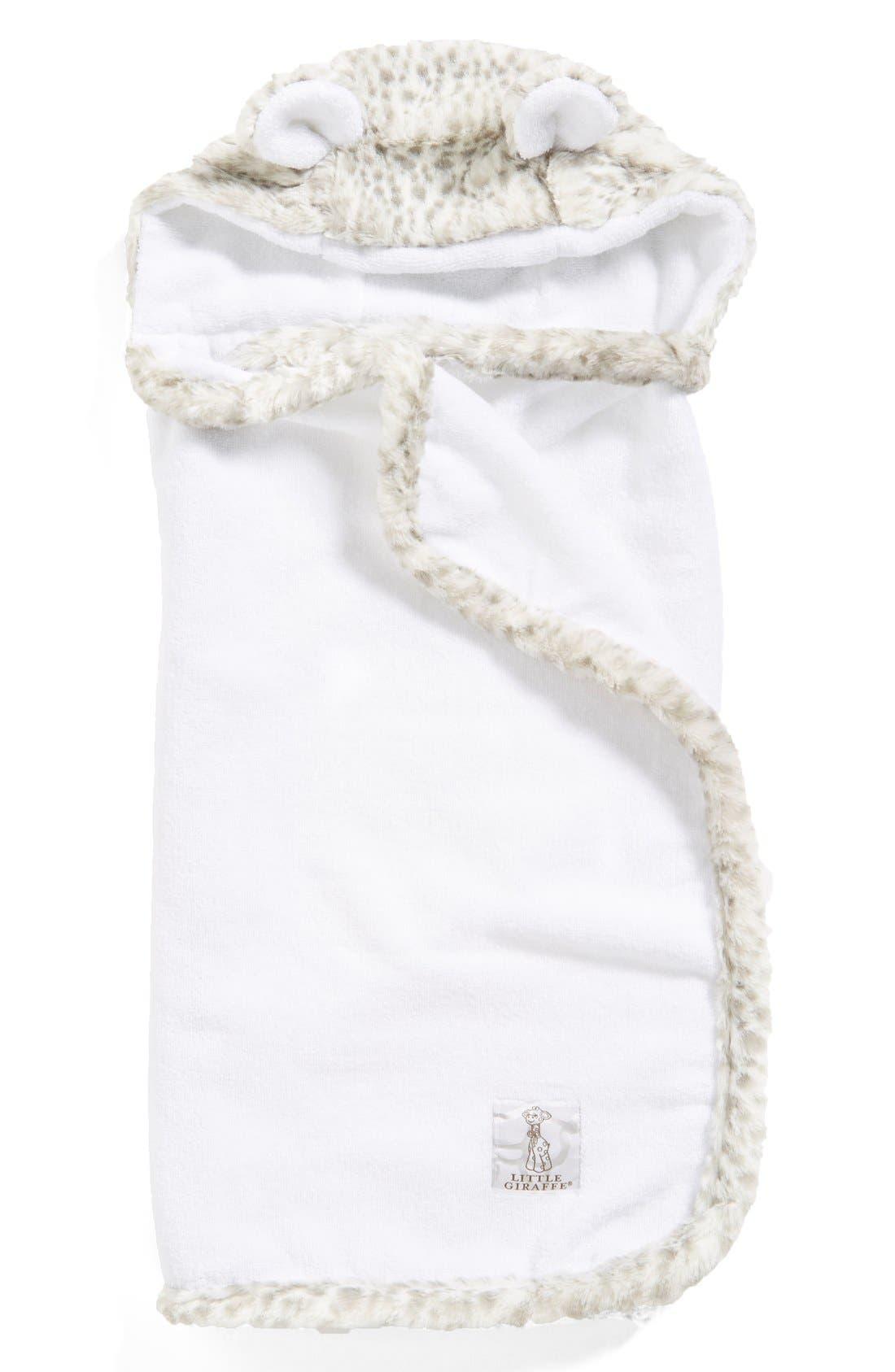 Main Image - Little Giraffe 'Luxe Snow Leopard' Hooded Towel (Baby)