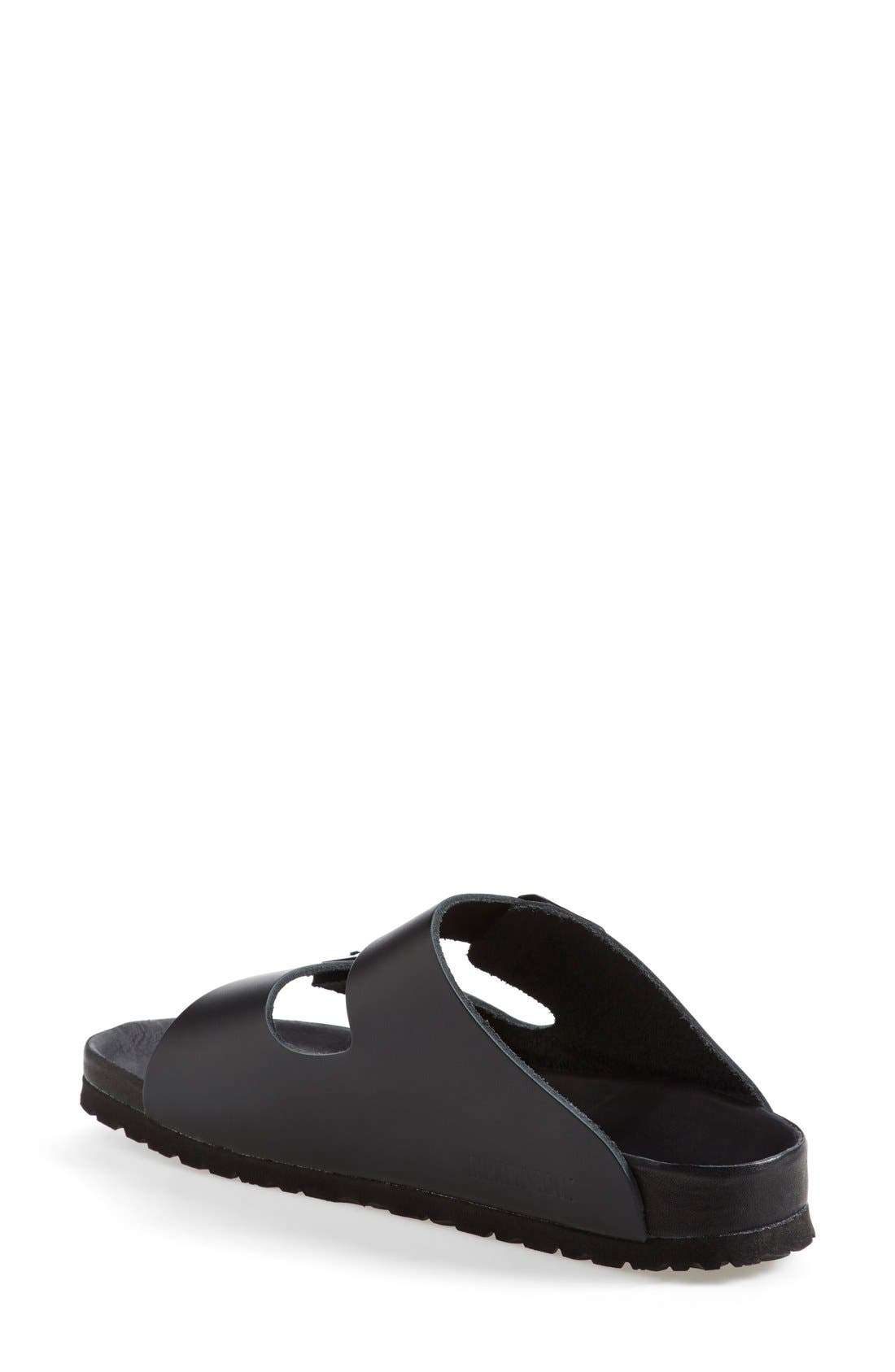 'Monterey' Leather Sandal,                             Alternate thumbnail 2, color,                             Black