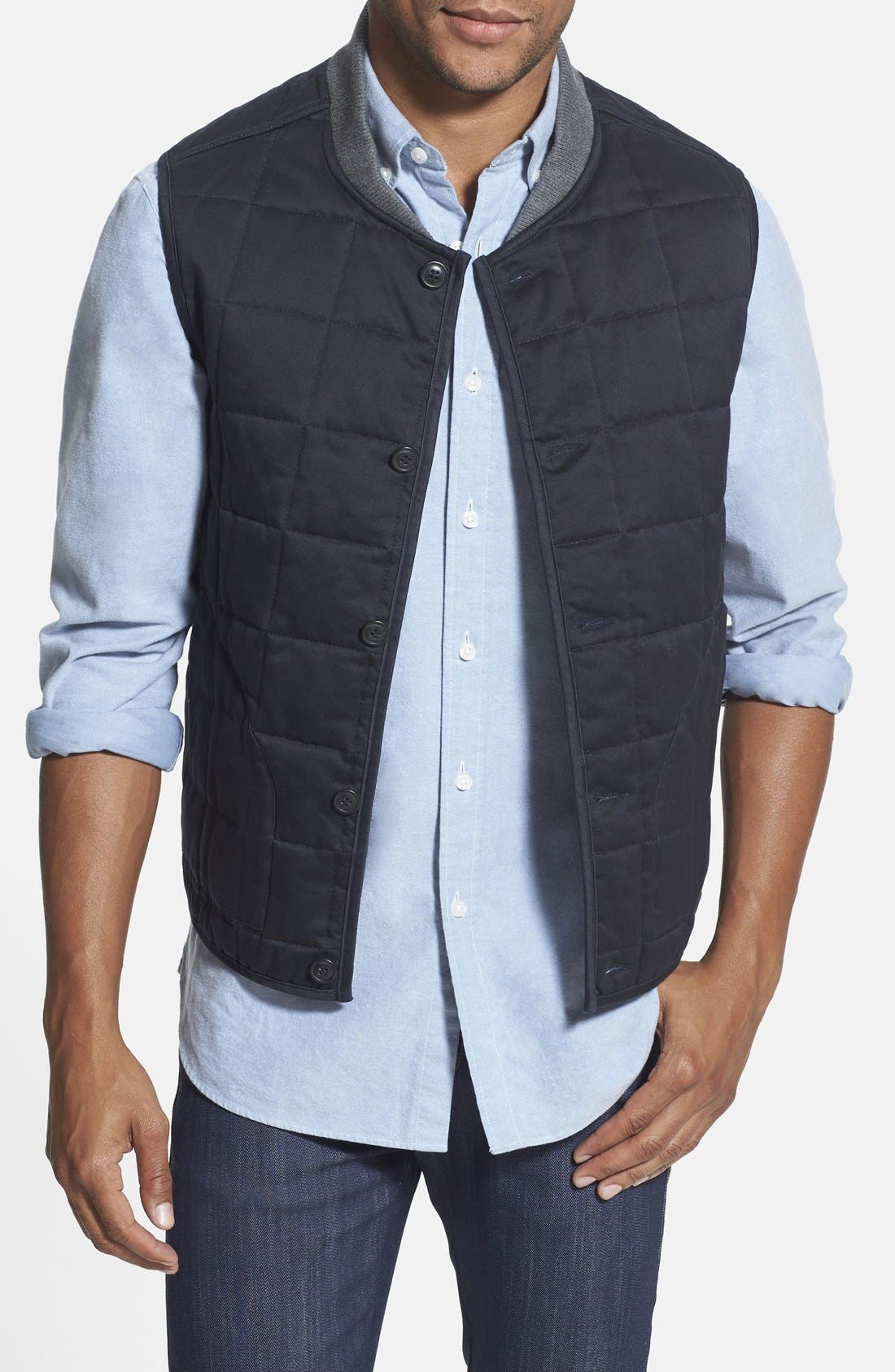 Main Image - Wallin & Bros. Trim Fit Quilted Vest