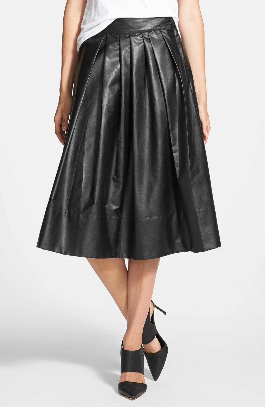 Alternate Image 1 Selected - Leith 'Town' Pleated Skirt