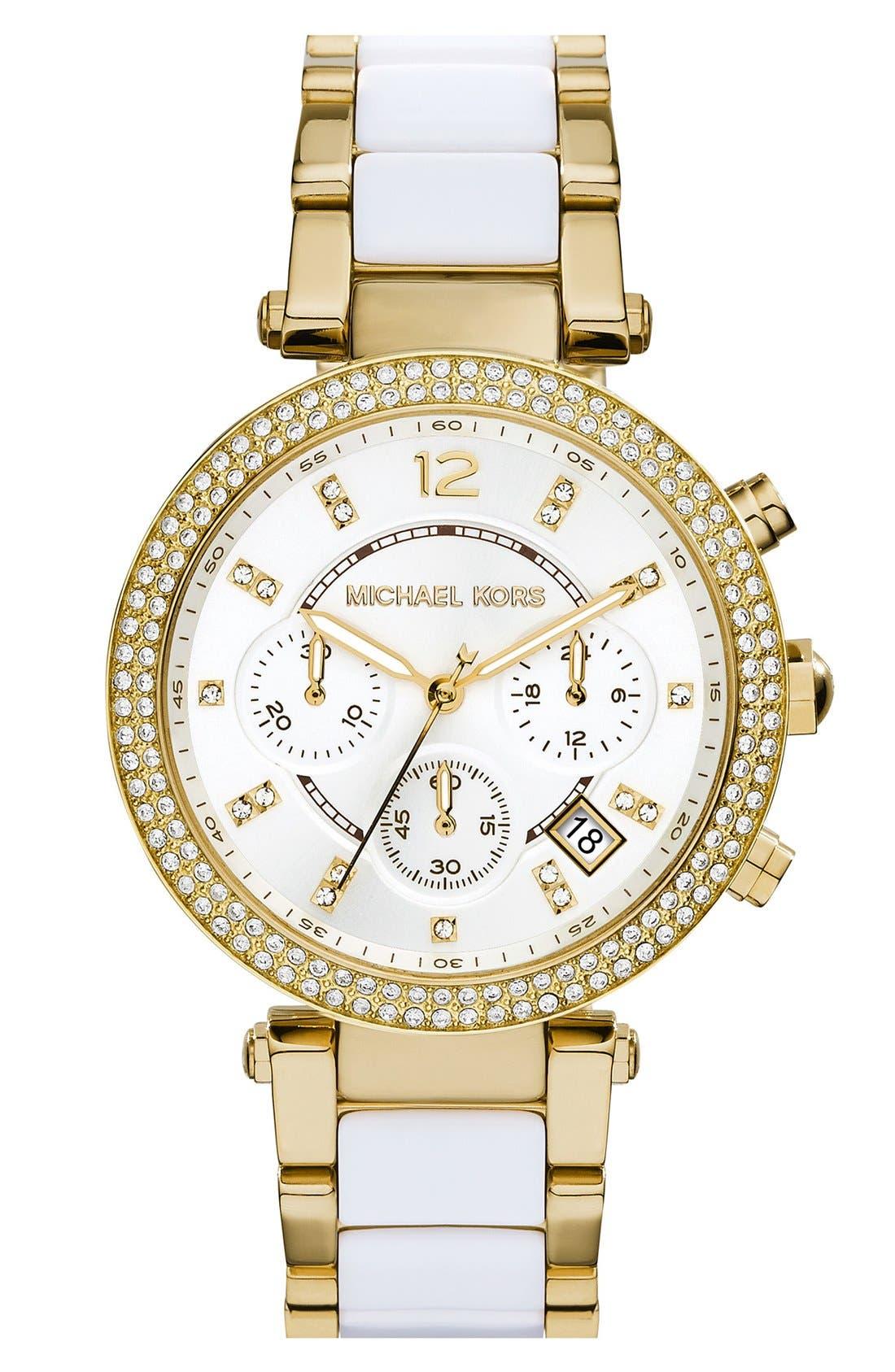 Alternate Image 1 Selected - Michael Kors 'Parker' Chronograph Watch, 39mm