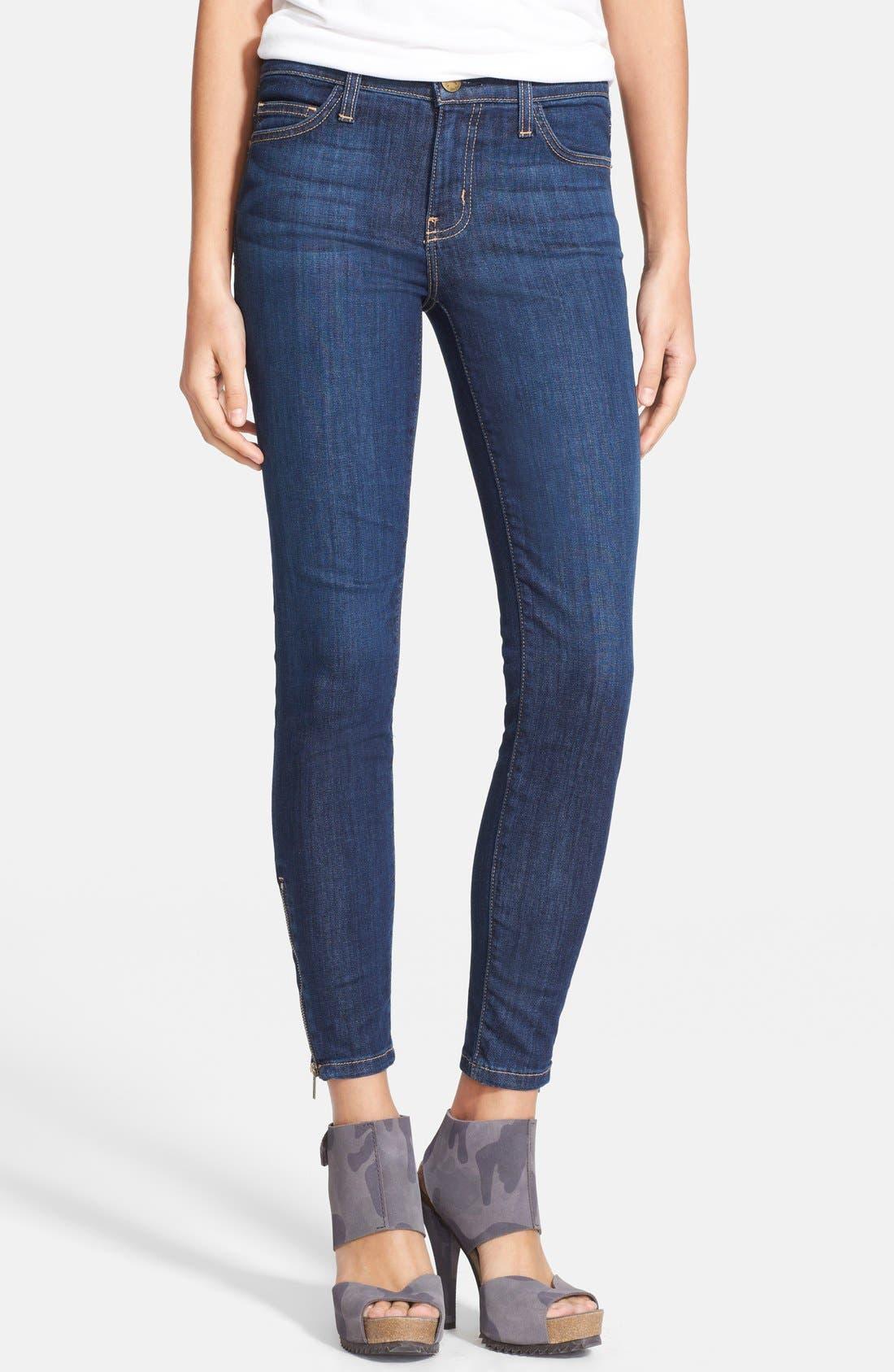Alternate Image 1 Selected - Current/Elliott 'The Zip Stiletto' Skinny Jeans (Bowler)