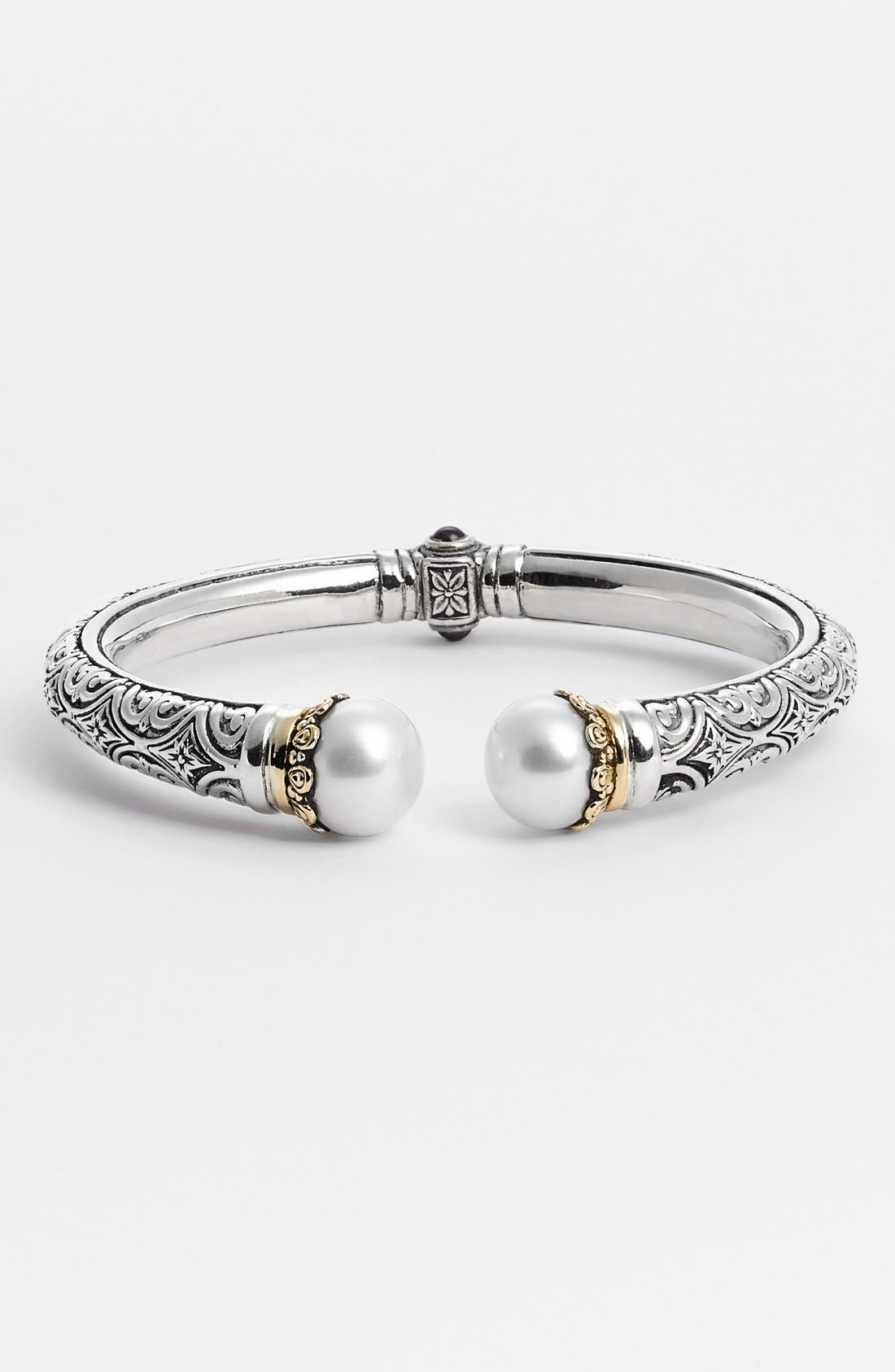 'Hermione' Hinged Cuff,                         Main,                         color, Silver/ Gold