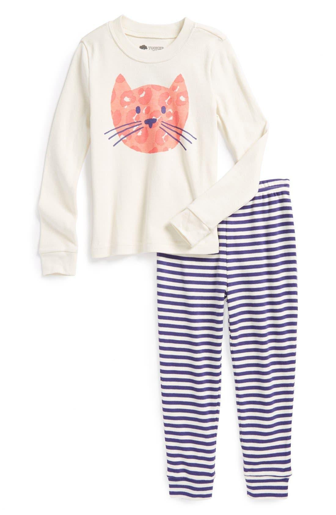 Alternate Image 1 Selected - Tucker + Tate Fitted Pajamas (Toddler Girls)