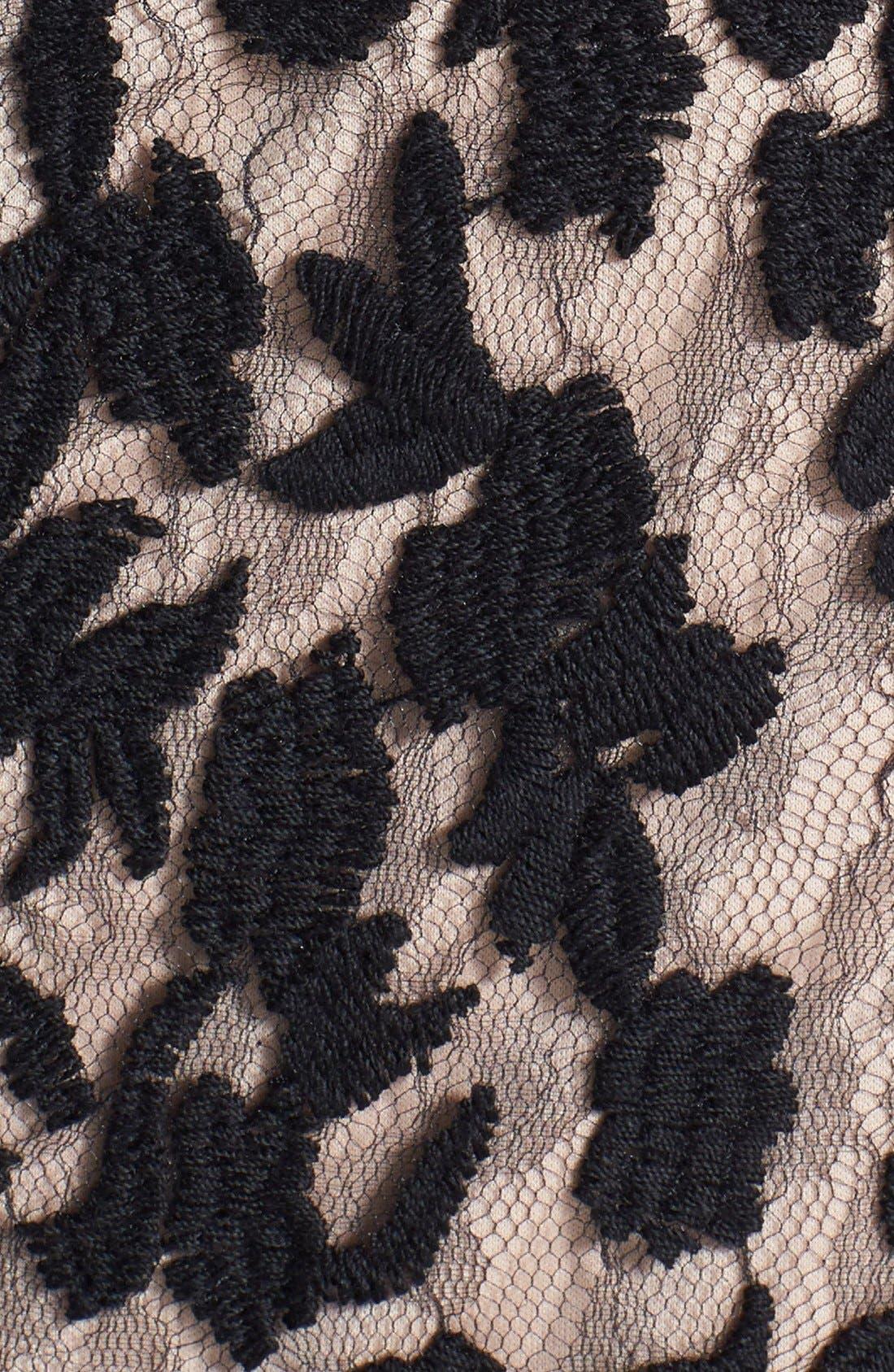 Alternate Image 4  - Adrianna Papell Lace Fit & Flare Dress (Regular & Petite)