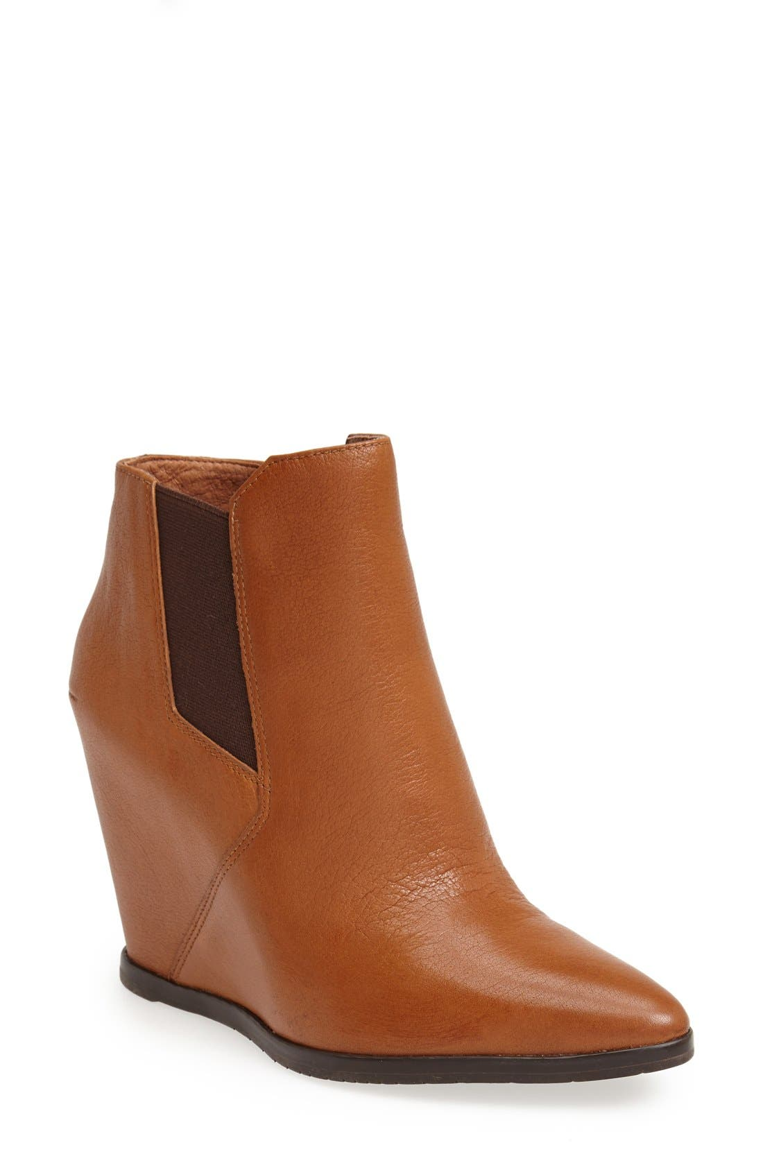 Main Image - Kenneth Cole New York 'Sloane' Leather Wedge Bootie (Women)