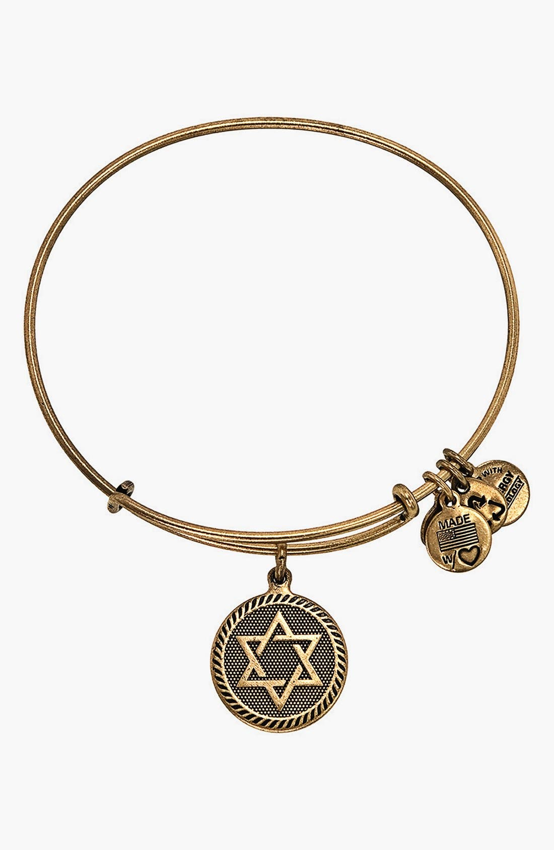 Main Image - Alex and Ani 'Star of David' Expandable Wire Bangle