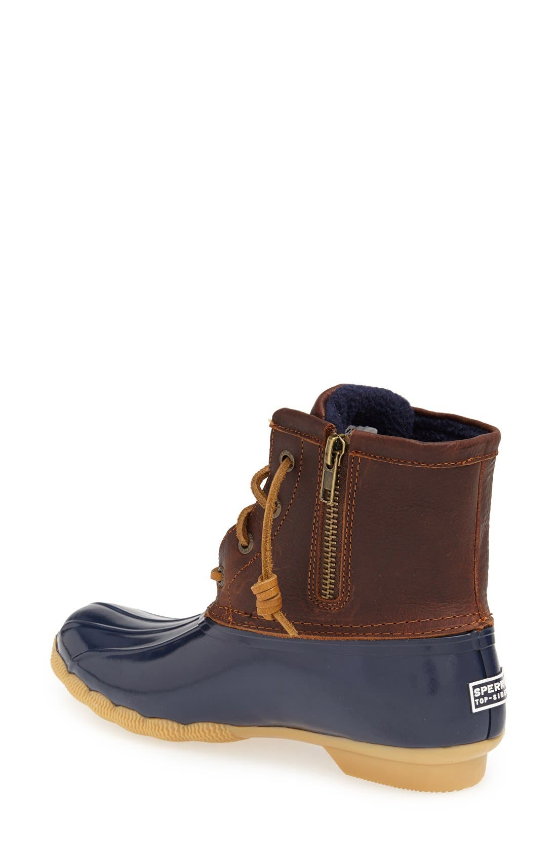 Saltwater Duck Boot,                             Alternate thumbnail 2, color,                             Tan/ Navy