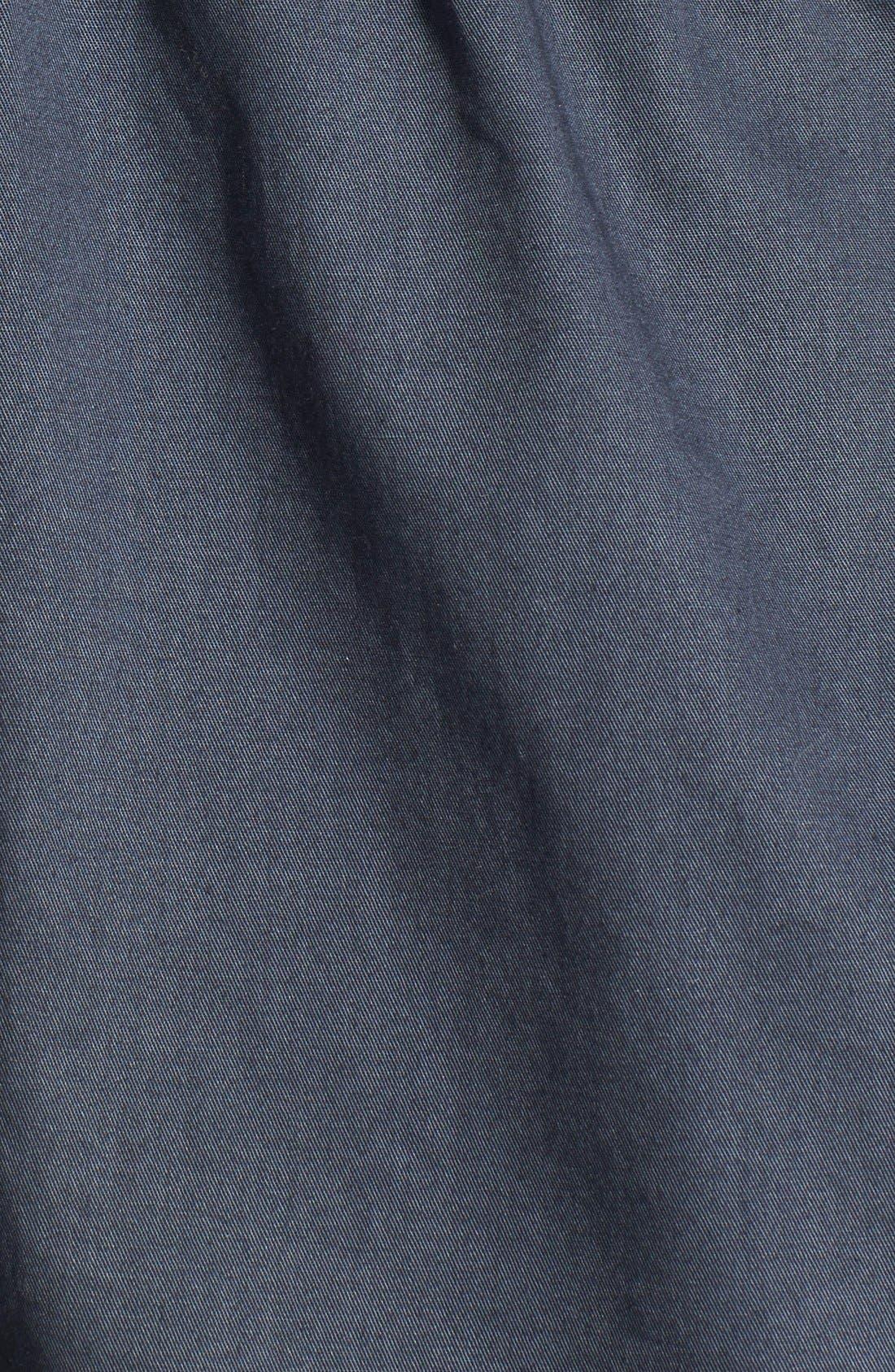 Alternate Image 3  - Caslon® Cotton Twill Hooded Jacket (Regular & Petite)