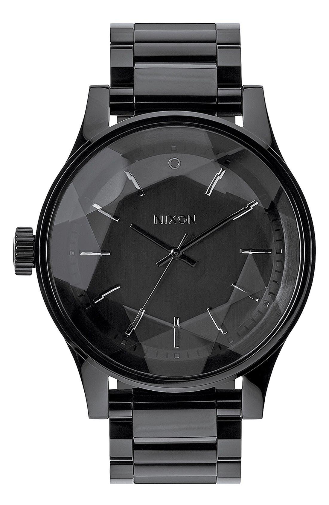 Alternate Image 1 Selected - Nixon 'The Facet' Round Bracelet Watch, 42mm