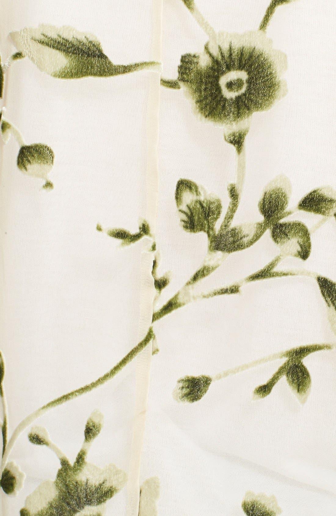 Alternate Image 3  - Lily White Velvet Detail Fringe Kimono Jacket (Juniors)