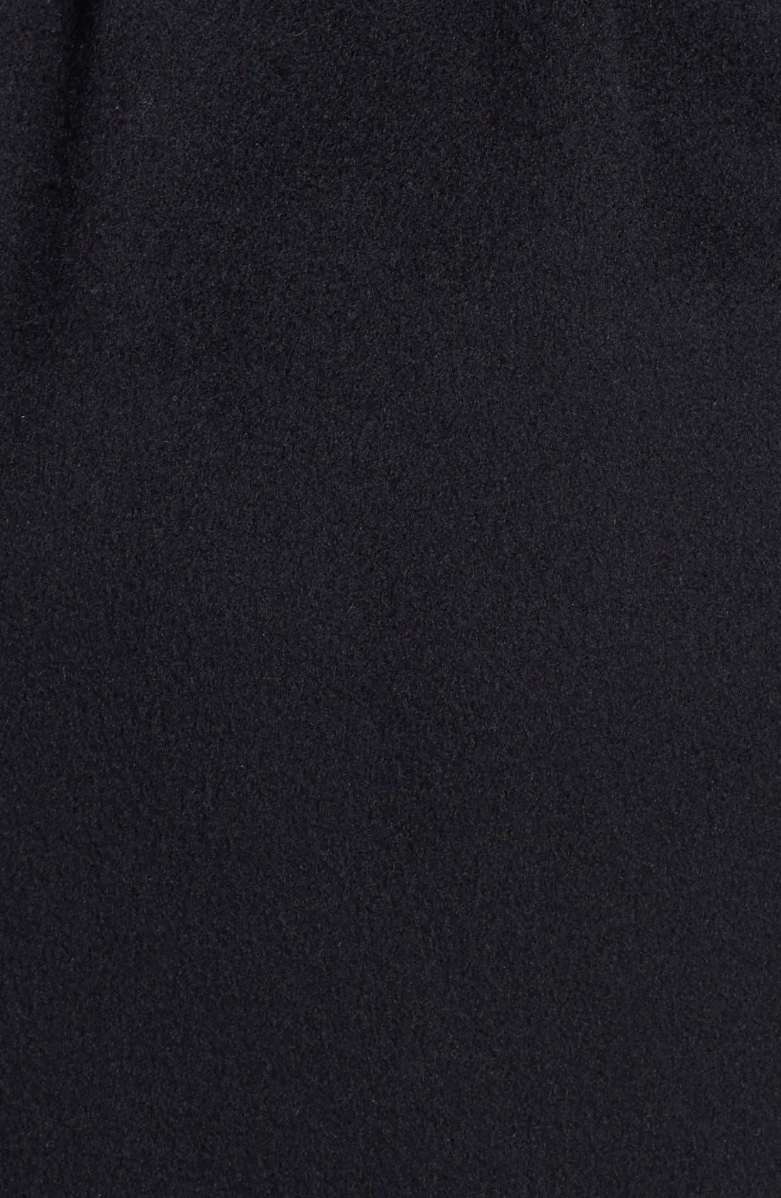 Alternate Image 3  - Fleurette Wool Wrap Coat with Genuine Fox Fur Collar