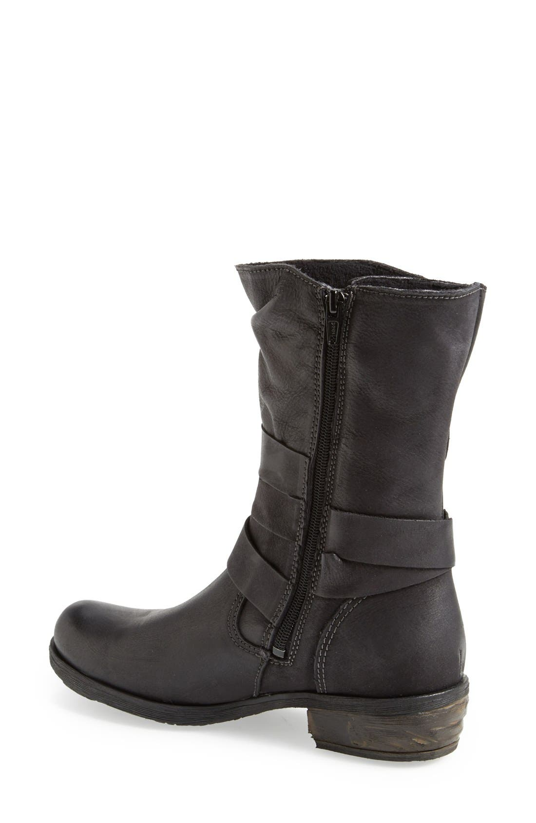 Alternate Image 2  - Bos. & Co. 'Katie' Waterproof Leather Moto Boot (Women)