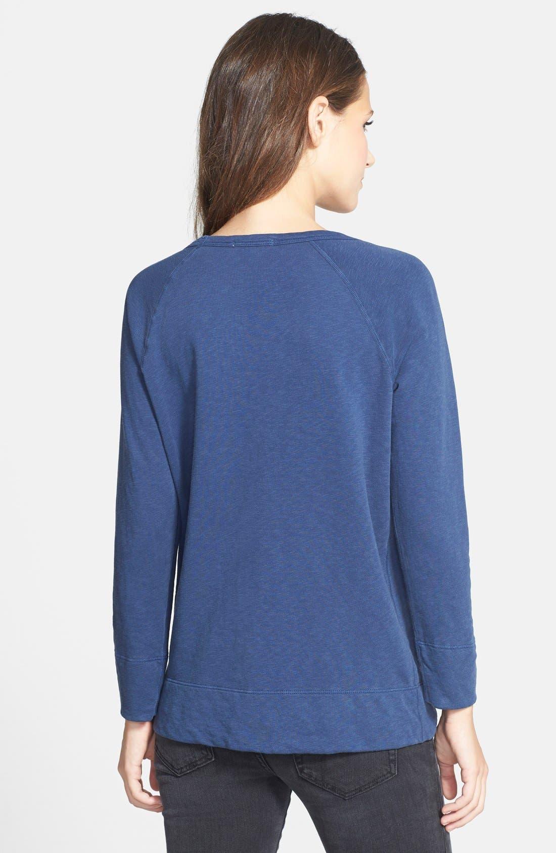 Alternate Image 2  - James Perse 'Vintage' Cotton Raglan Pullover