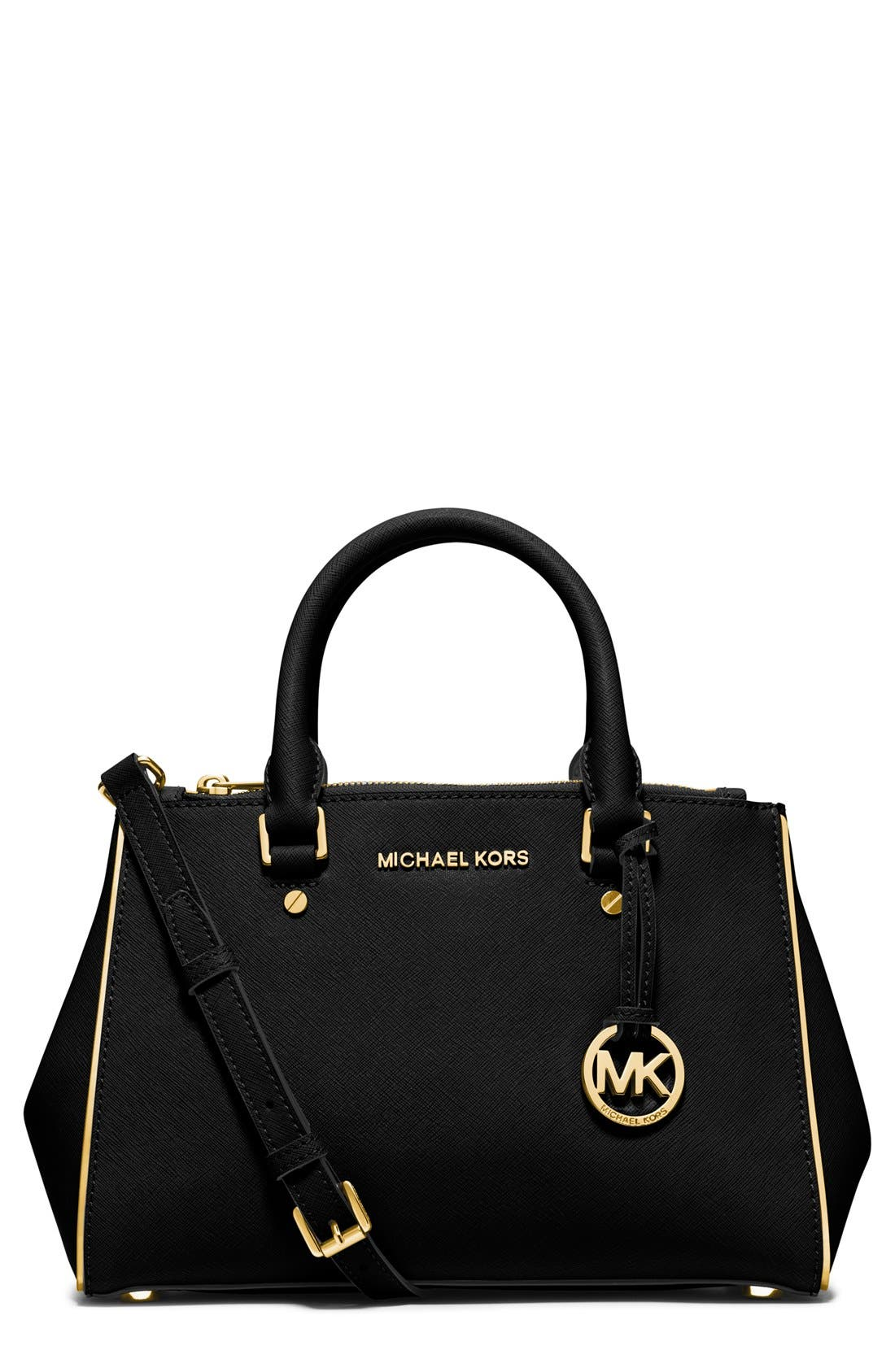 Alternate Image 1 Selected - MICHAEL Michael Kors 'Small Sutton' Saffiano Leather Satchel