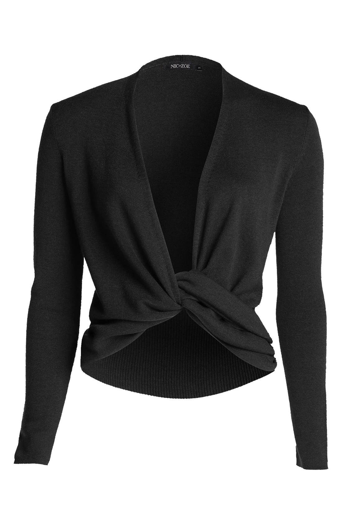 Four-Way Convertible Cardigan,                             Alternate thumbnail 6, color,                             Black Onyx