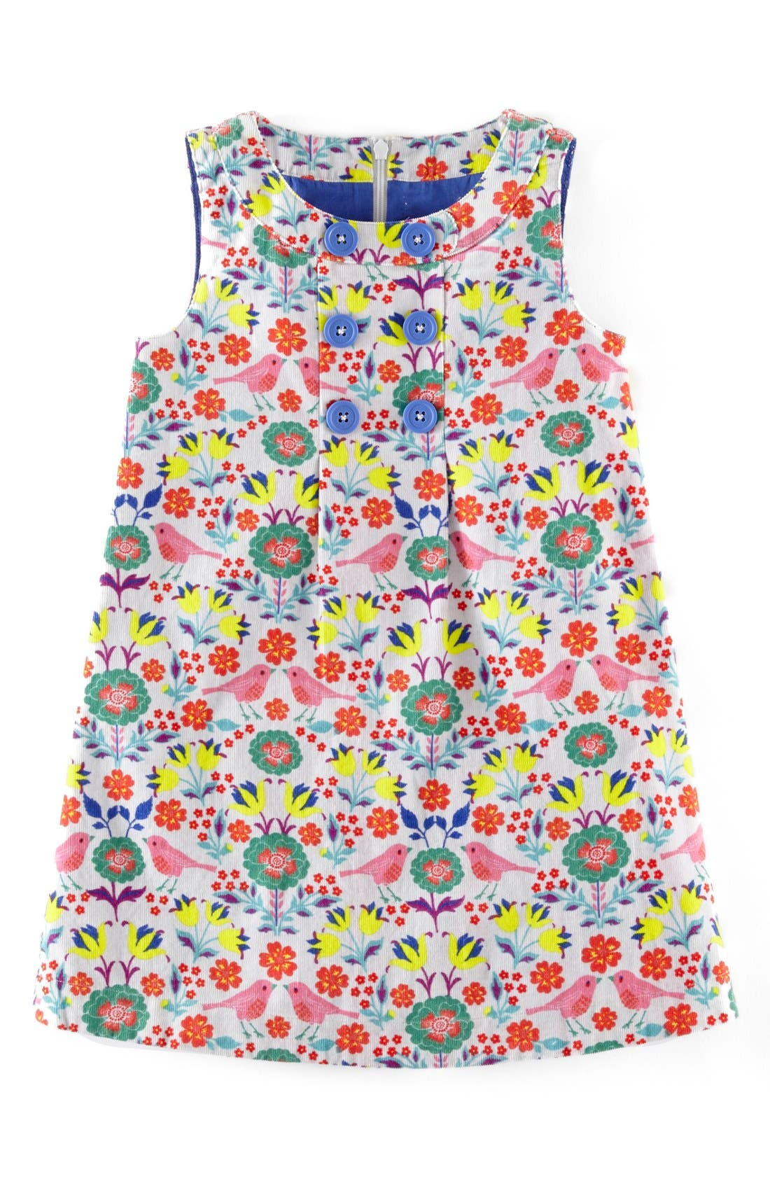 Alternate Image 1 Selected - Mini Boden Sleeveless Corduroy Dress (Toddler Girls, Little Girls & Big Girls)