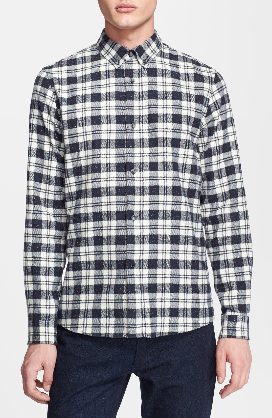 Alternate Image 1 Selected - A.P.C. Plaid Flannel Shirt
