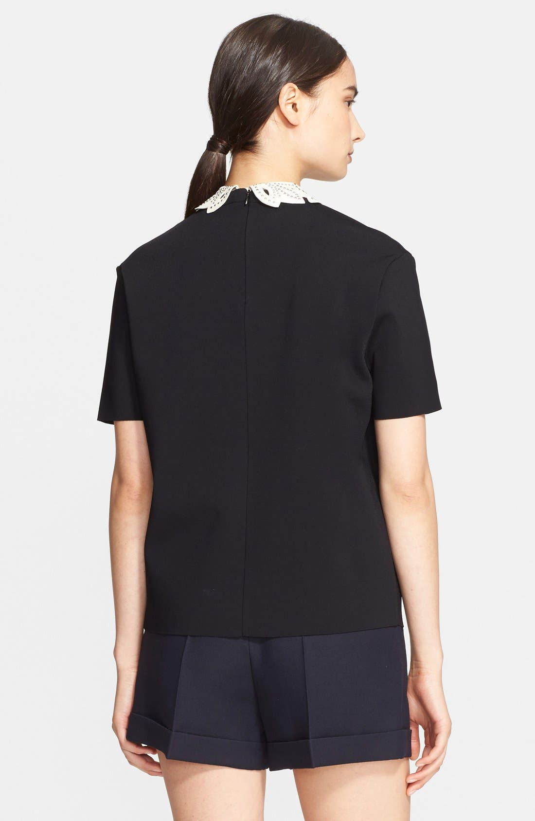 Alternate Image 2  - Valentino Leather Collar Top
