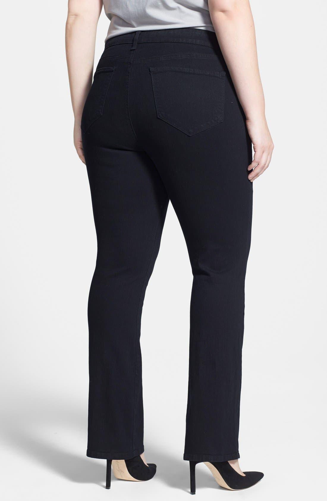 Alternate Image 2  - NYDJ 'Billie' Stretch Mini Bootcut Jeans (Plus Size)