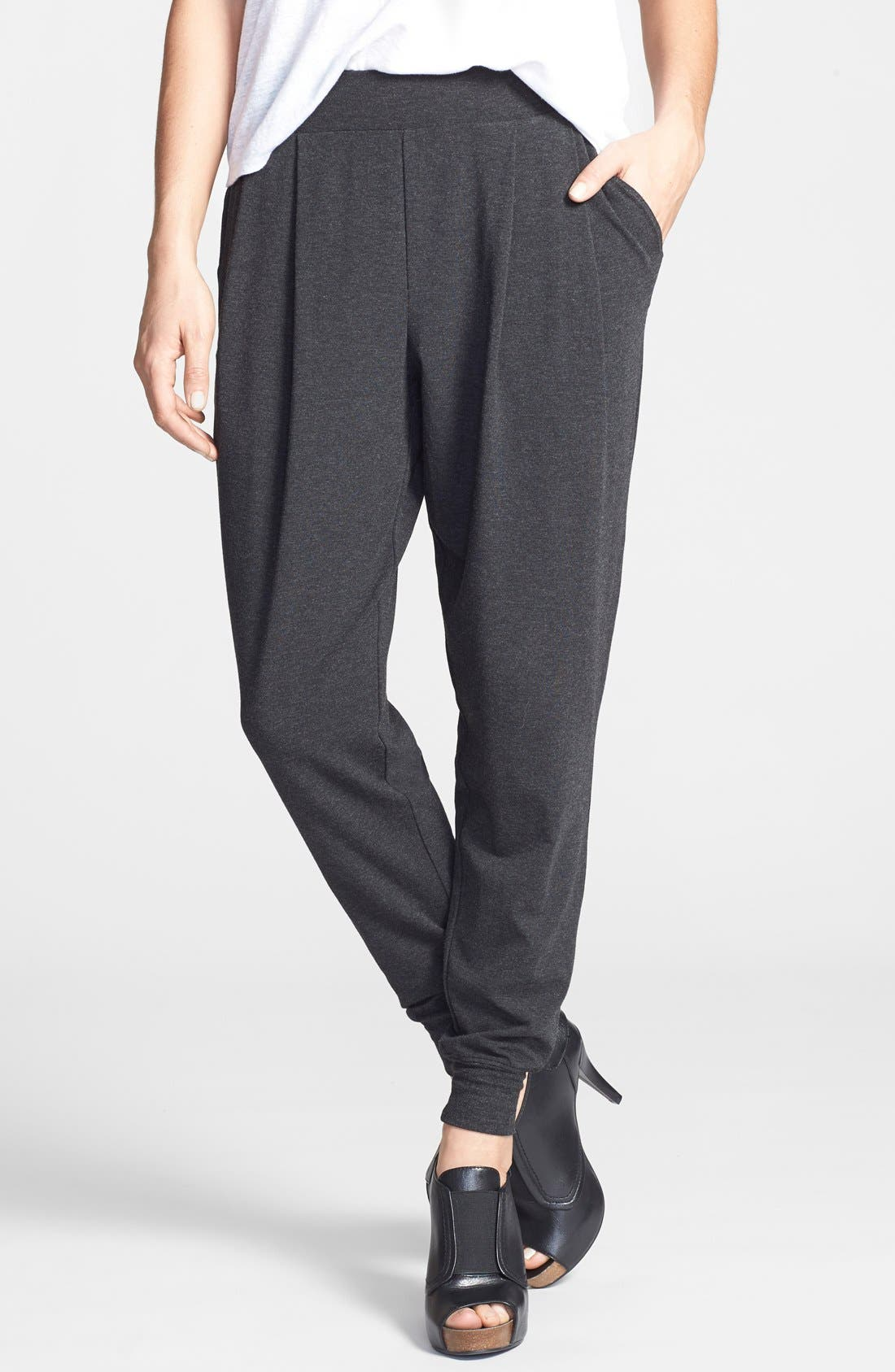 Alternate Image 1 Selected - Eileen Fisher Slouchy Ankle Pants (Regular & Petite)