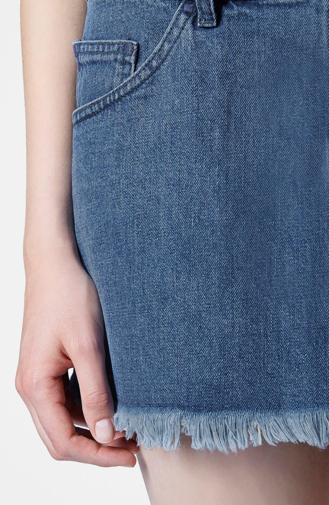Alternate Image 3  - Marques'Almeida for Topshop Denim Miniskirt