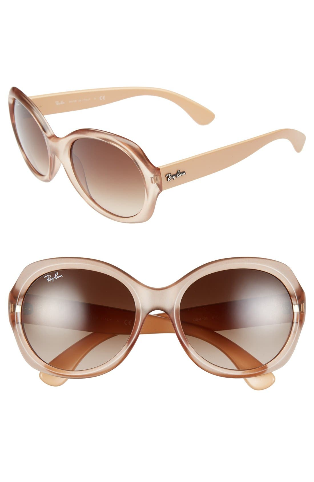 Alternate Image 1 Selected - Ray-Ban 57mm Round Gradient Sunglasses