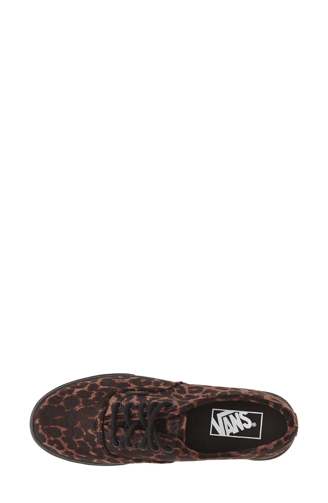 Alternate Image 3  - Vans 'Authentic - Lo Pro' Leopard Print Sneaker (Women)
