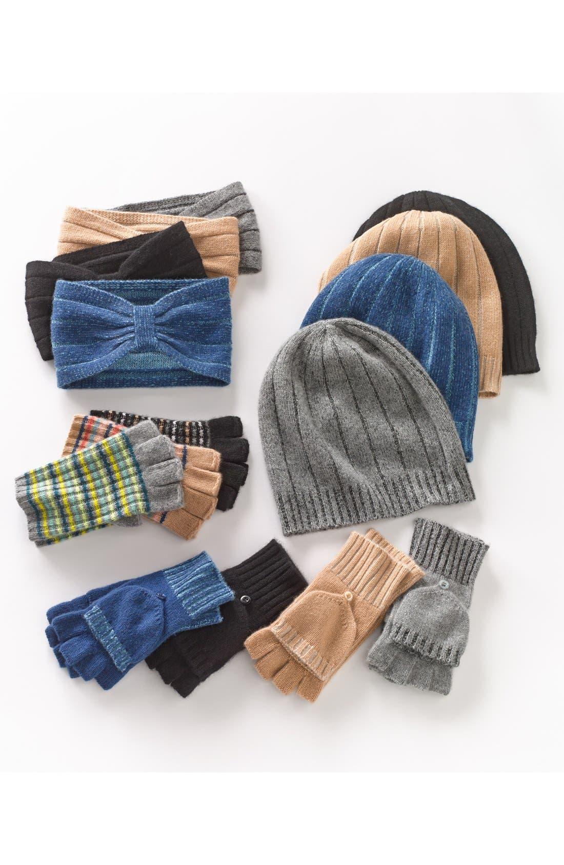 Alternate Image 4  - Made of Me Stripe Fingerless Cashmere Gloves