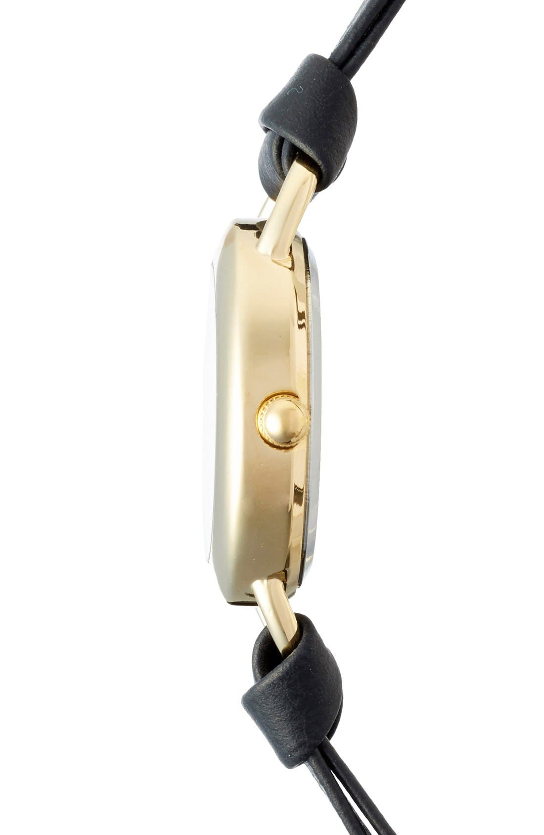 Alternate Image 3  - La Mer Collections 'Saturn' Leather Wrap Bracelet Watch, 22mm