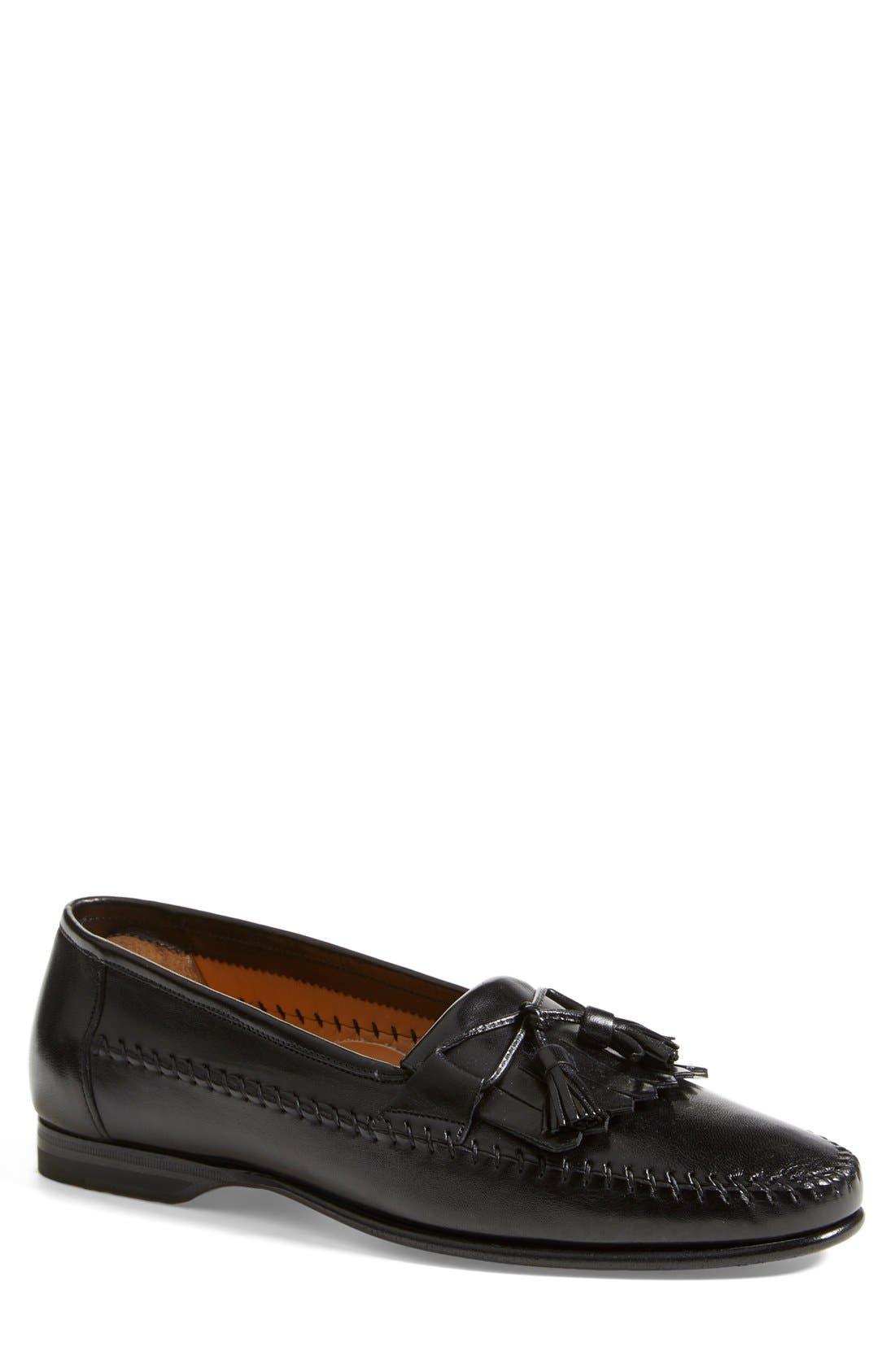 'Forester' Kiltie Tassel Loafer,                         Main,                         color, Black