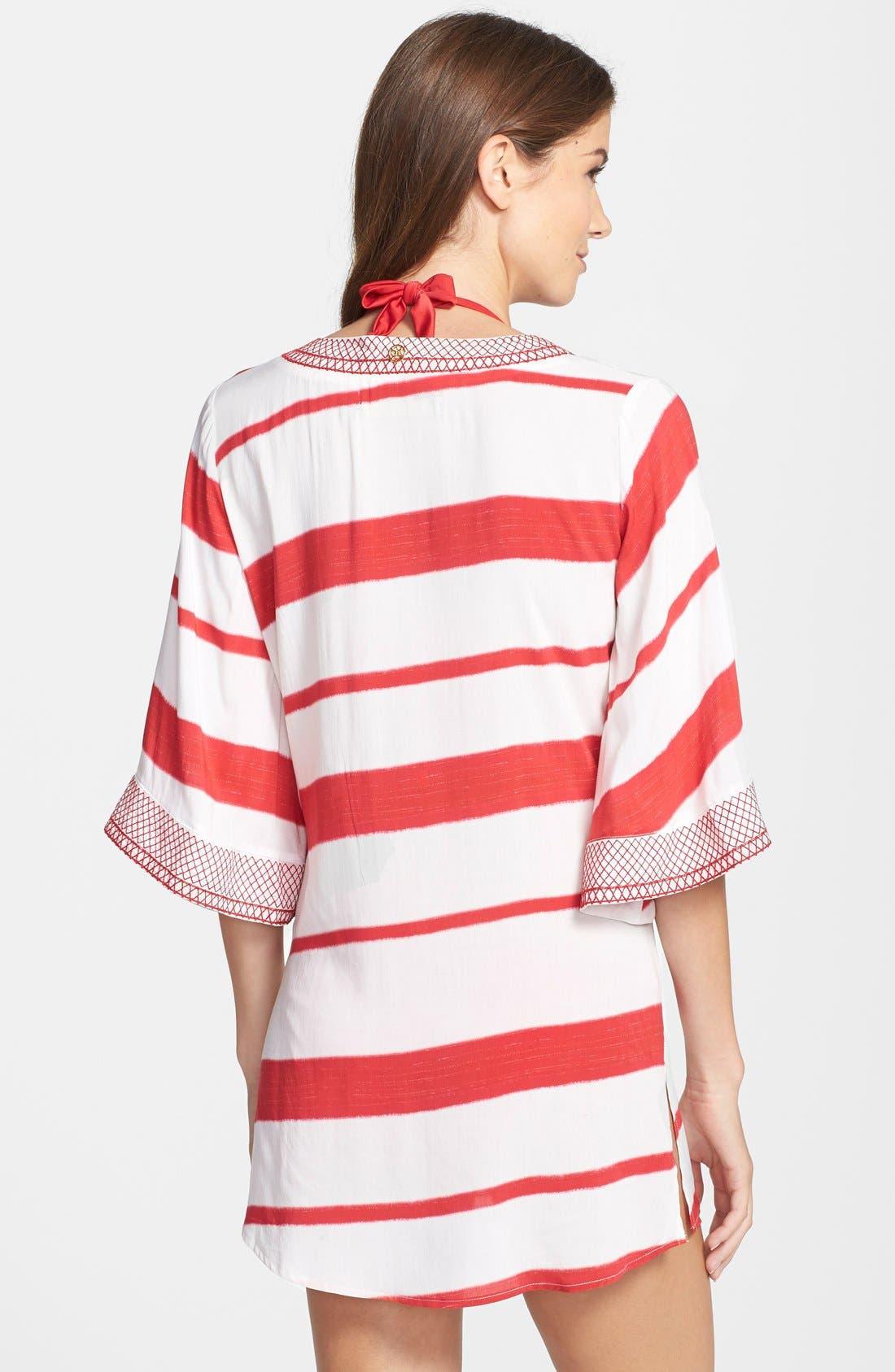 'Desert Helen' Stripe Cover-Up Tunic,                             Alternate thumbnail 2, color,                             Desert