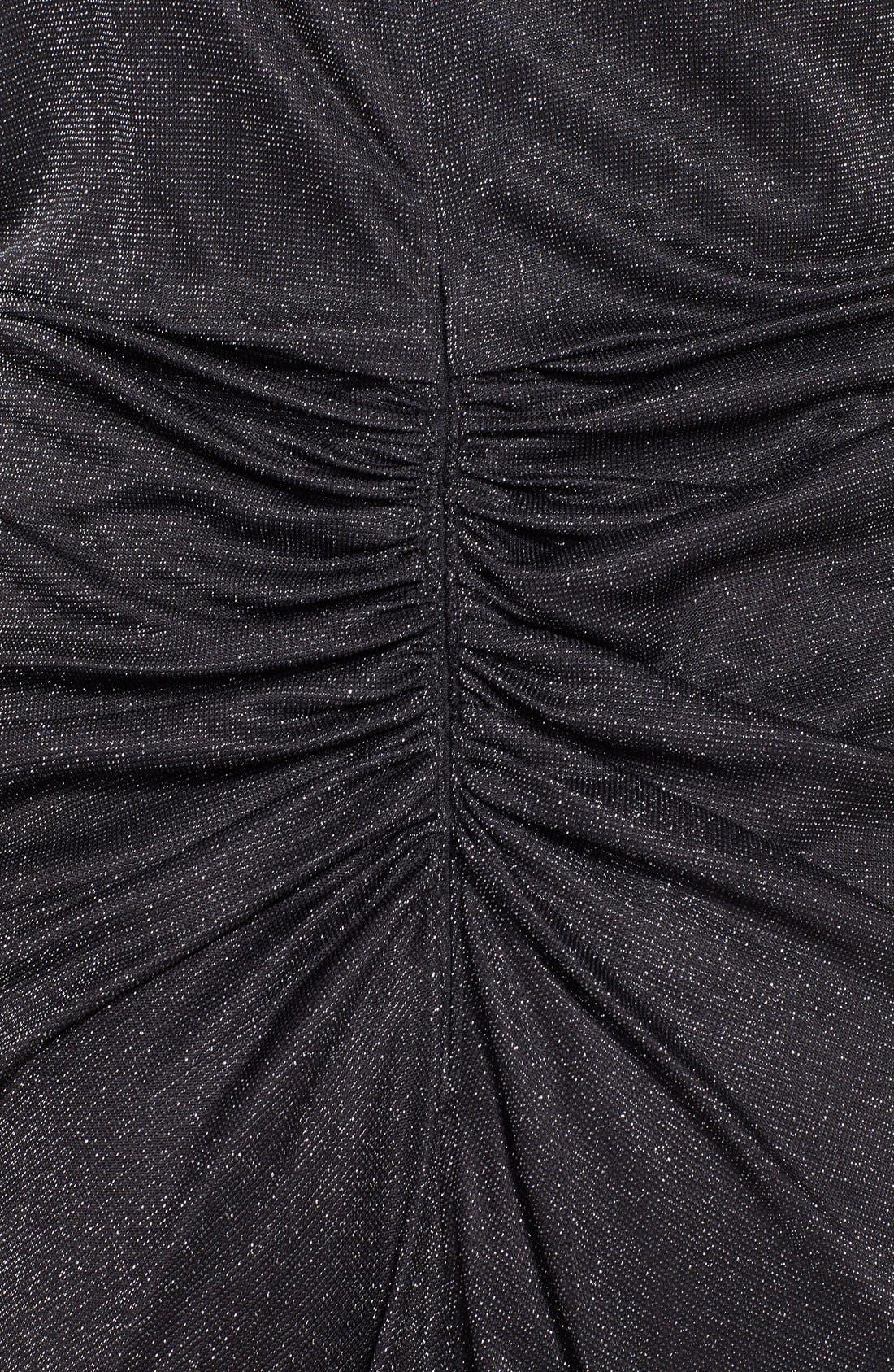 Alternate Image 3  - Aidan by Aidan Mattox One Shoulder Metallic Knit Gown